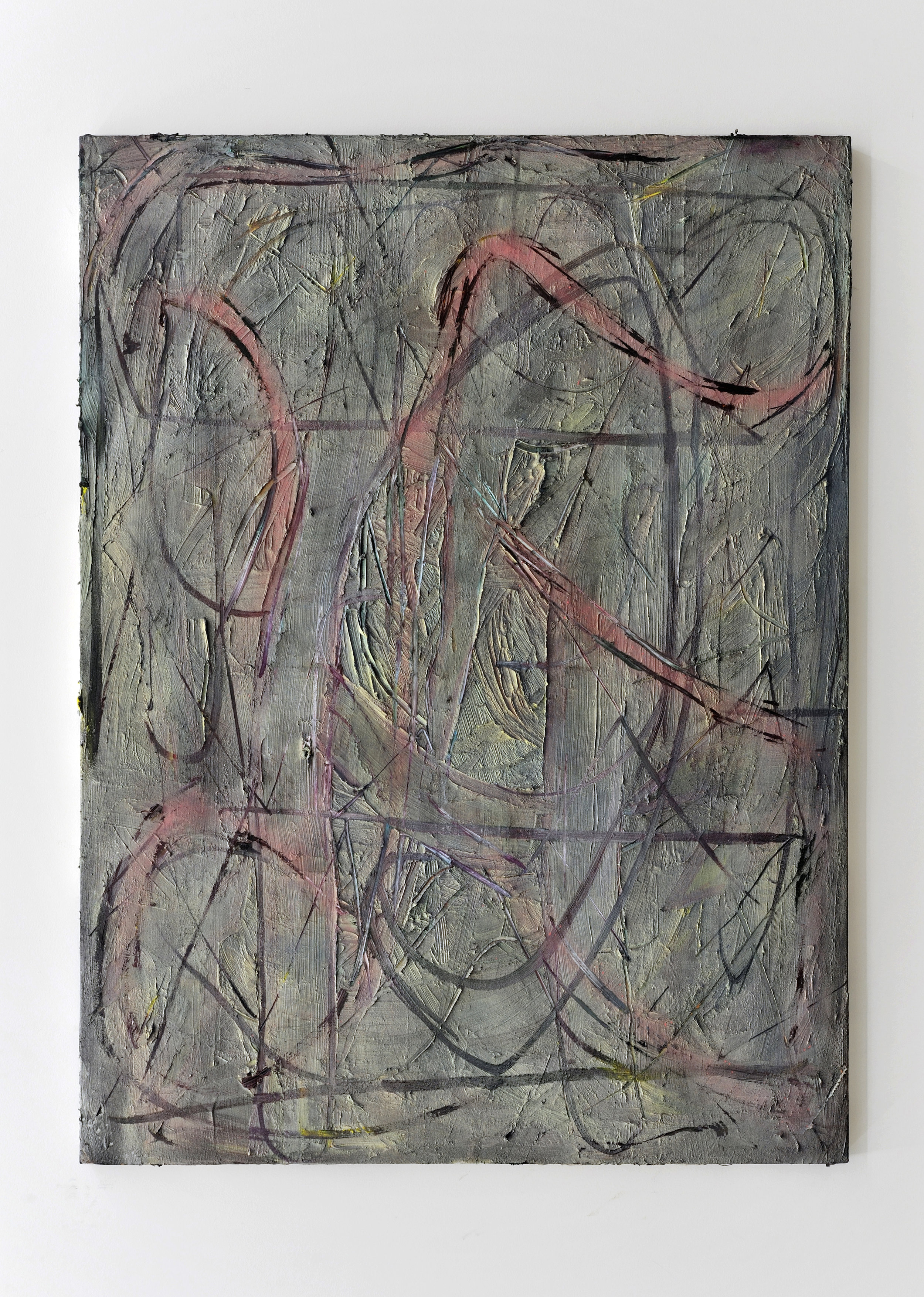 Pound, 2012 oil and spray paint on canvas 162 x 121 cm - 63 3/4 x 47 5/8 inches