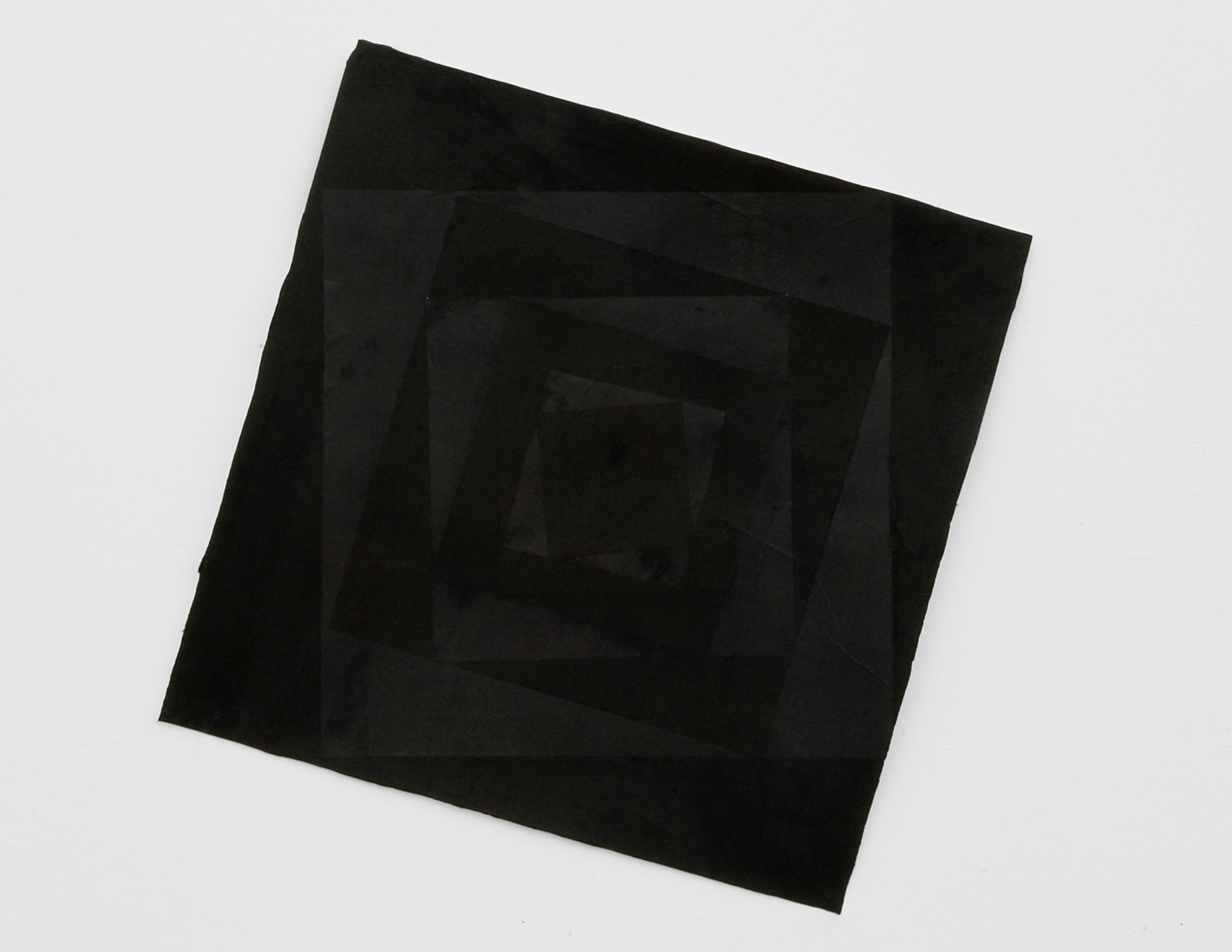 Black on Black Squares, 2008 collage on paper 60,5 x 60,5 cm - 23 3/4 x 23 3/4 inches