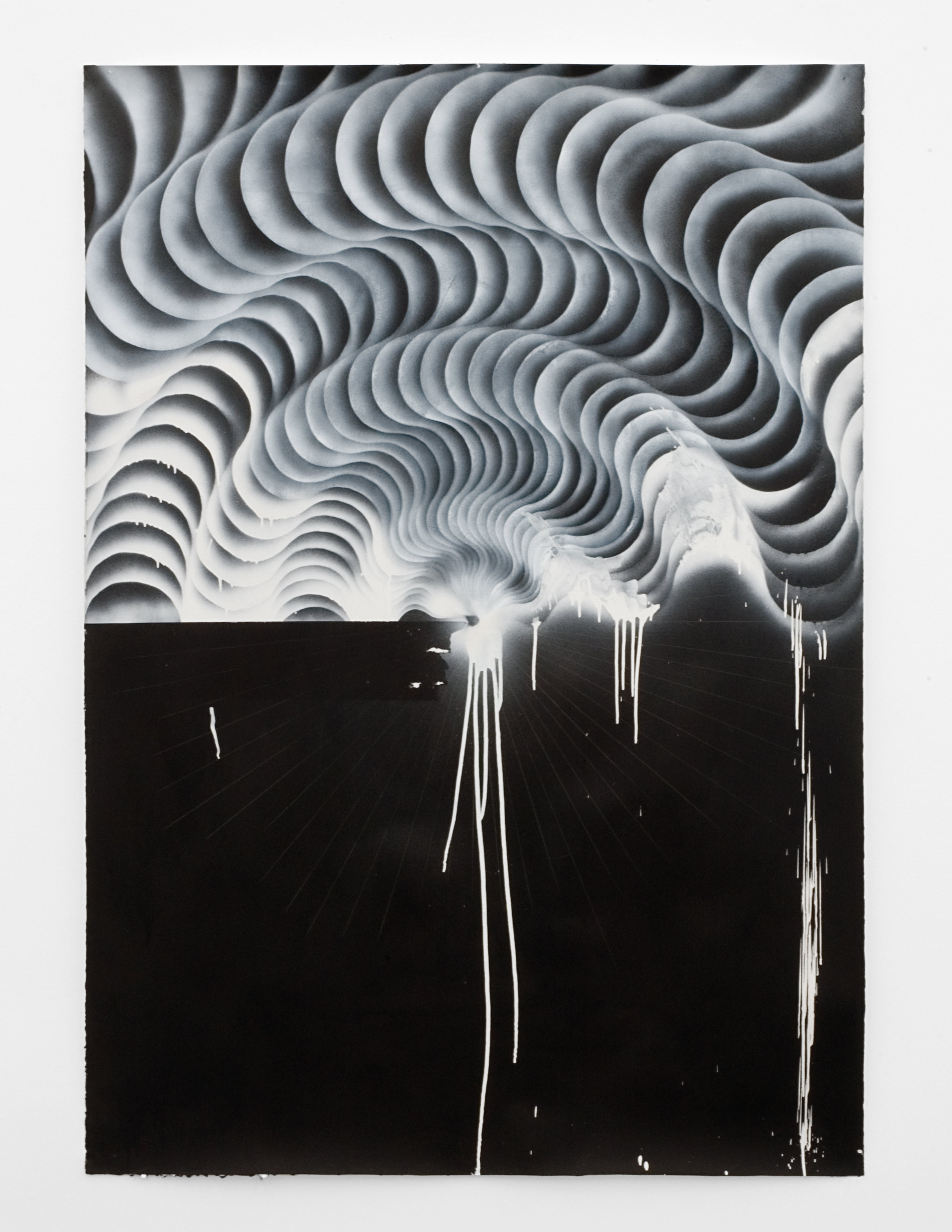 Vortex #3, 2008 india ink, colored pencil and spray paint on paper 167 x 122,5 cm - 65 3/4 x 48 1/4 inches
