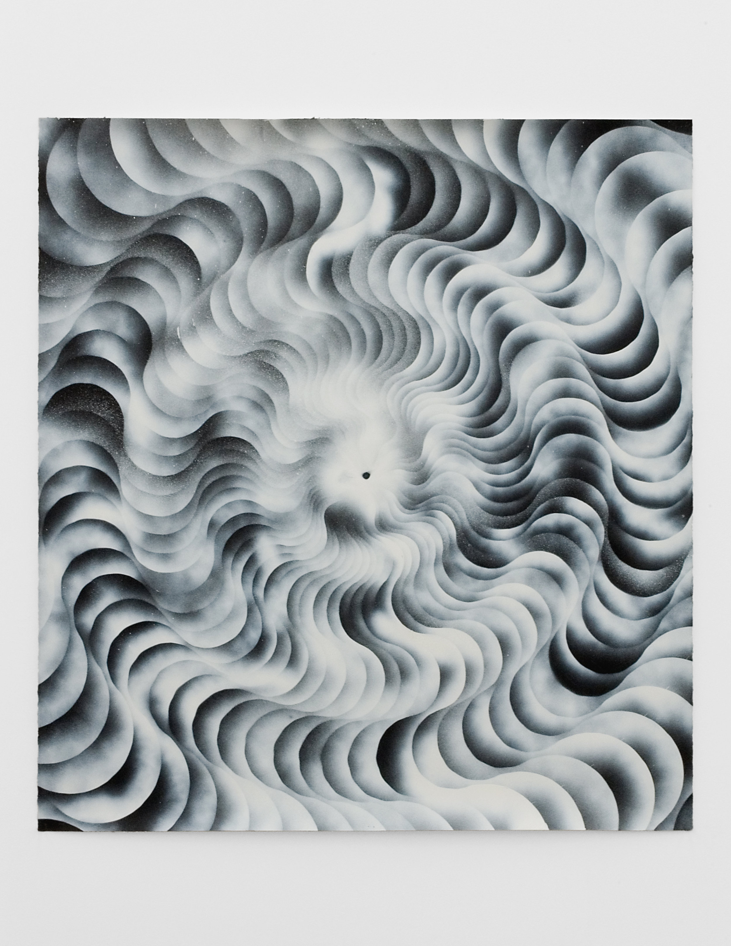 Vortex #1, 2008 sumi ink, acrylic varnish, colored pencil and spray paint on paper 133 x 123 cm - 52 3/8 x 48 3/8 inches