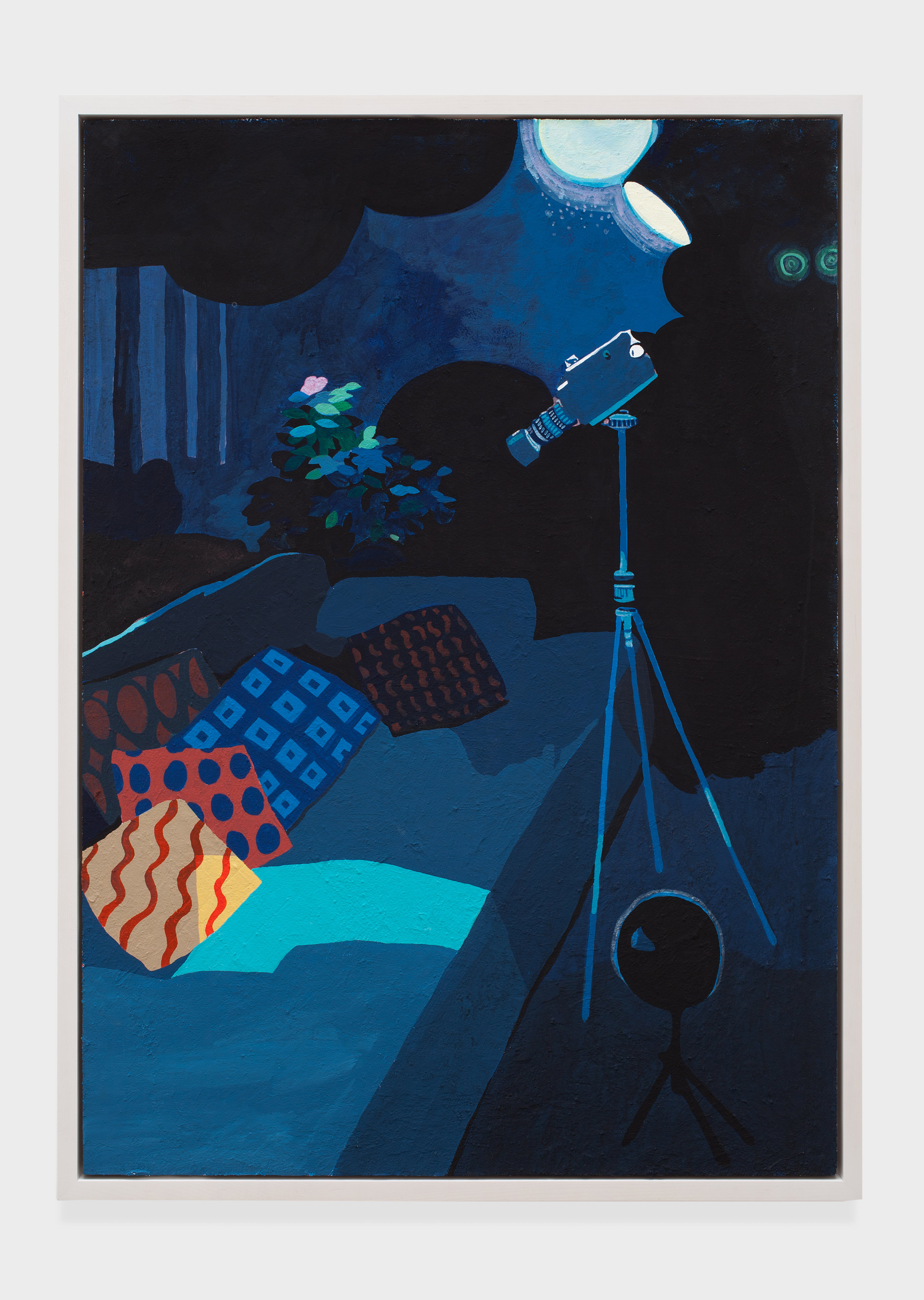 Blue Camera, 2014 acrylic and flashe on canvas 149 x 108,6 cm - 58 5/8 x 42 3/4 inches