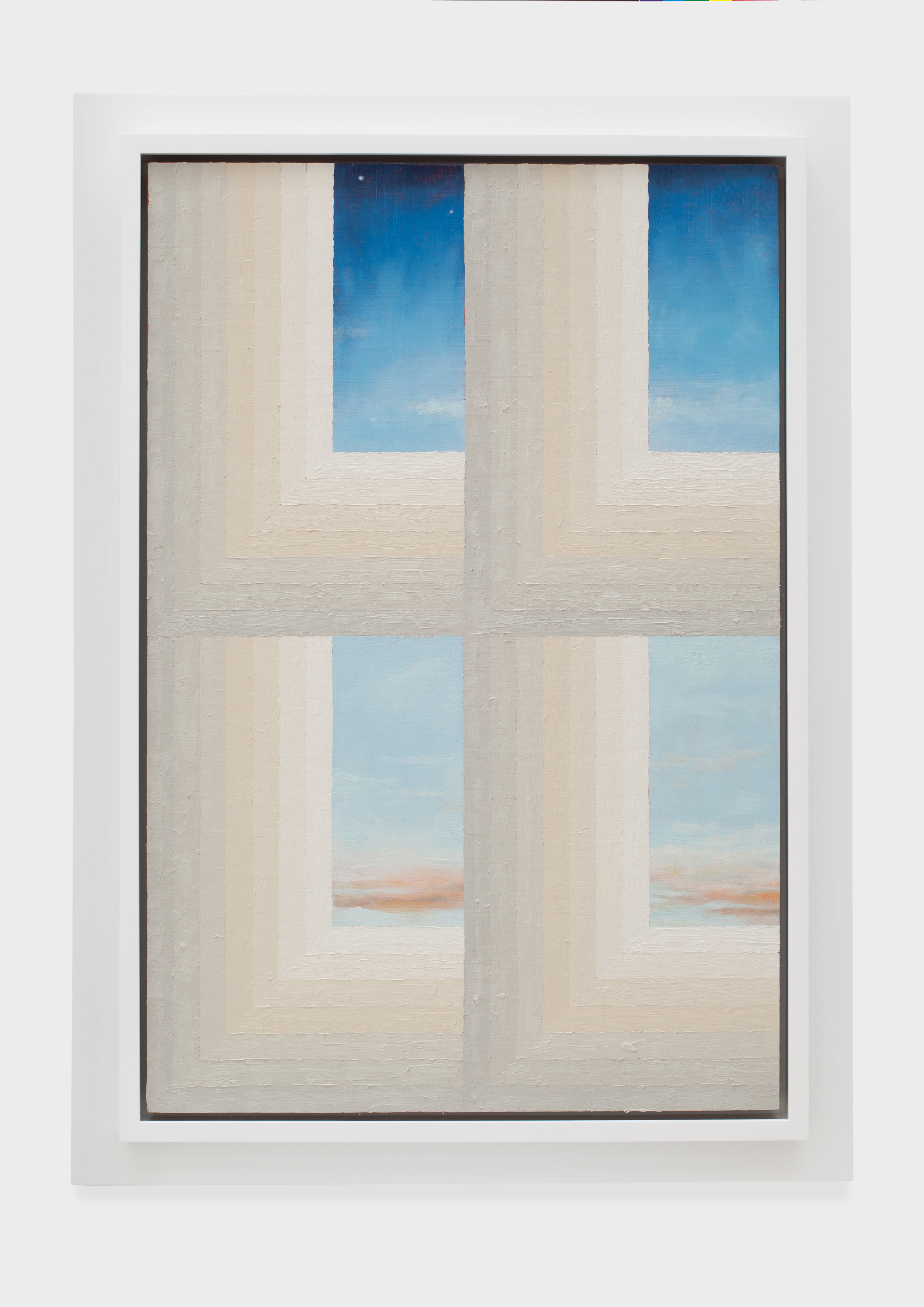 Window/Sky, 2014 acrylic and oil on linen 107 x 77 cm - 42 1/8 x 30 1/4 inches