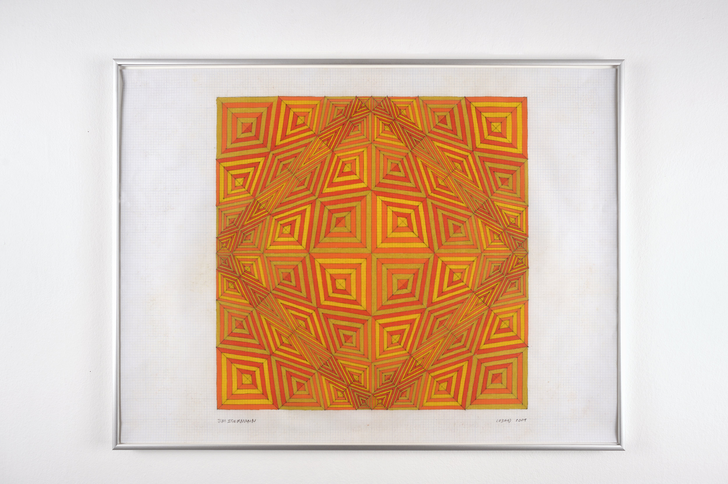Untitled (0309), 2009 colored pencil on grid paper 47,5 x 62,7 cm - 18 3/4 x 24 5/8 inches