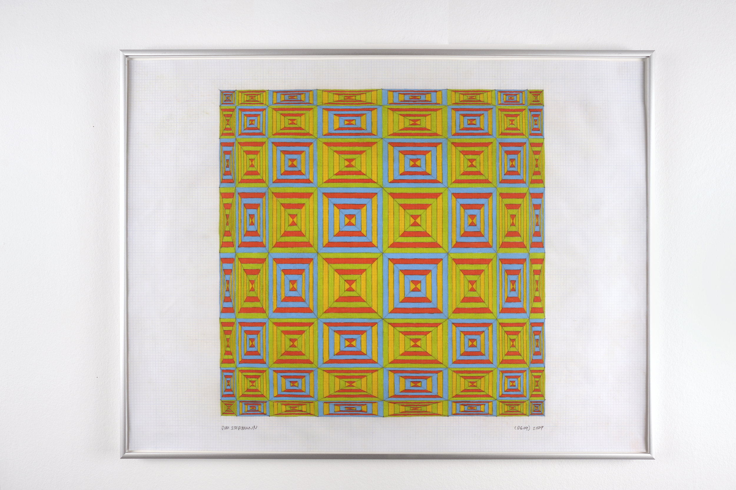 Untitled (0609), 2009 colored pencil on grid paper 47,5 x 62,7 cm - 18 3/4 x 24 5/8 inches