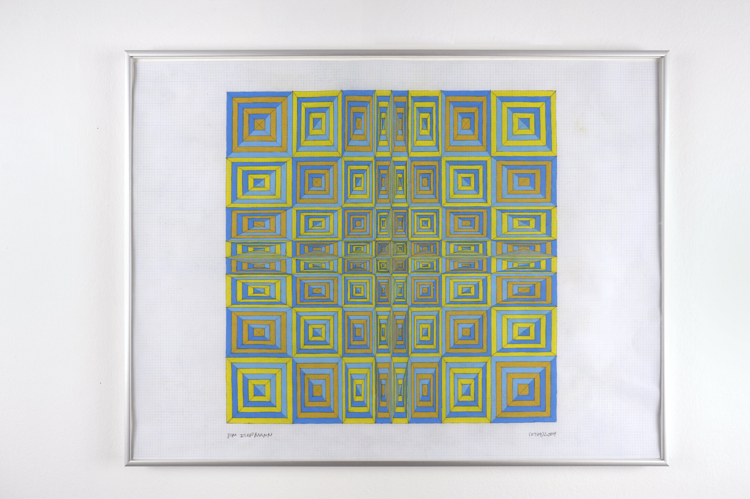 Untitled (0709), 2009 colored pencil on grid paper 47,5 x 62,7 cm - 18 3/4 x 24 5/8 inches