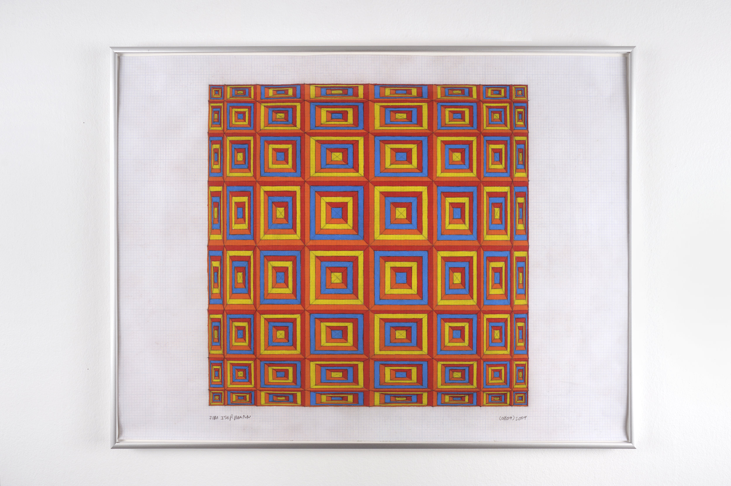 Untitled (0809), 2009 colored pencil on grid paper 47,5 x 62,7 cm - 18 3/4 x 24 5/8 inches