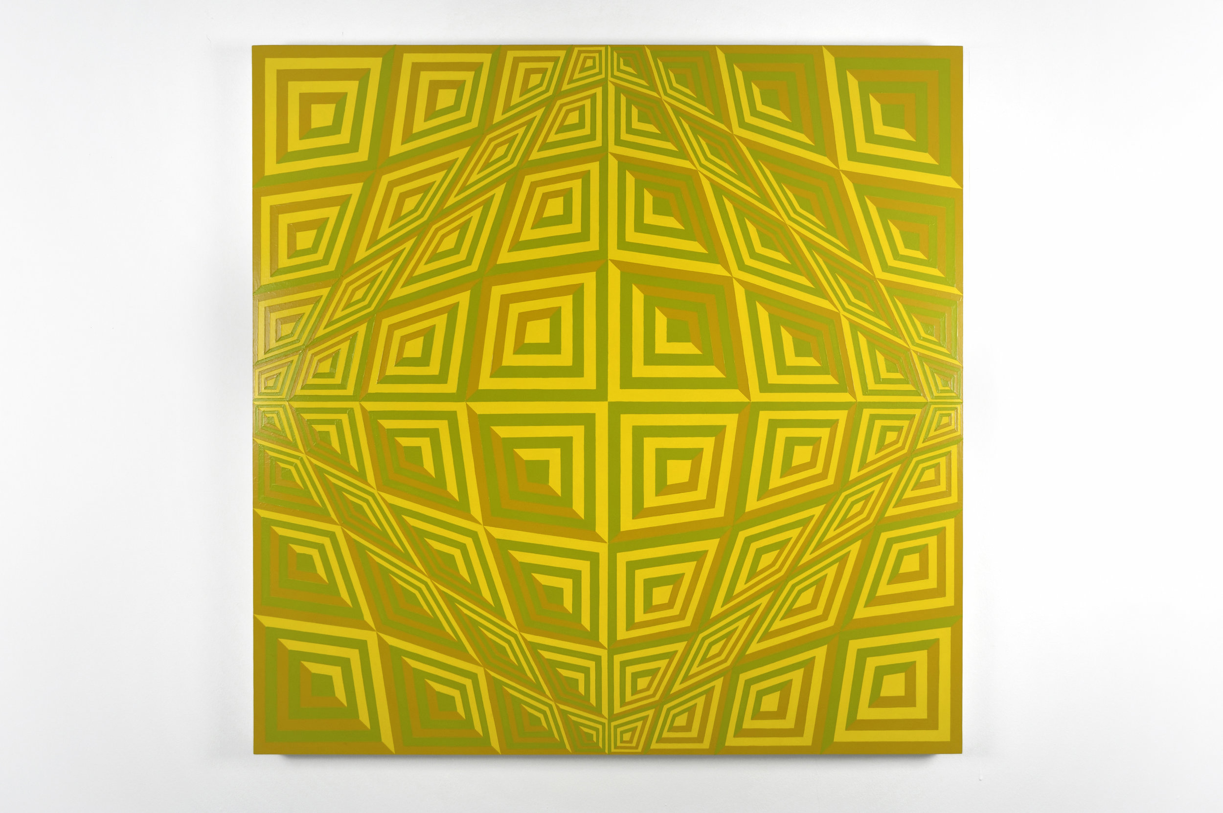 Untitled (yellow 116; ochre 124; green 397), 2009 acrylic latex paint on canvas 122 x 122 cm - 48 x 48 inches
