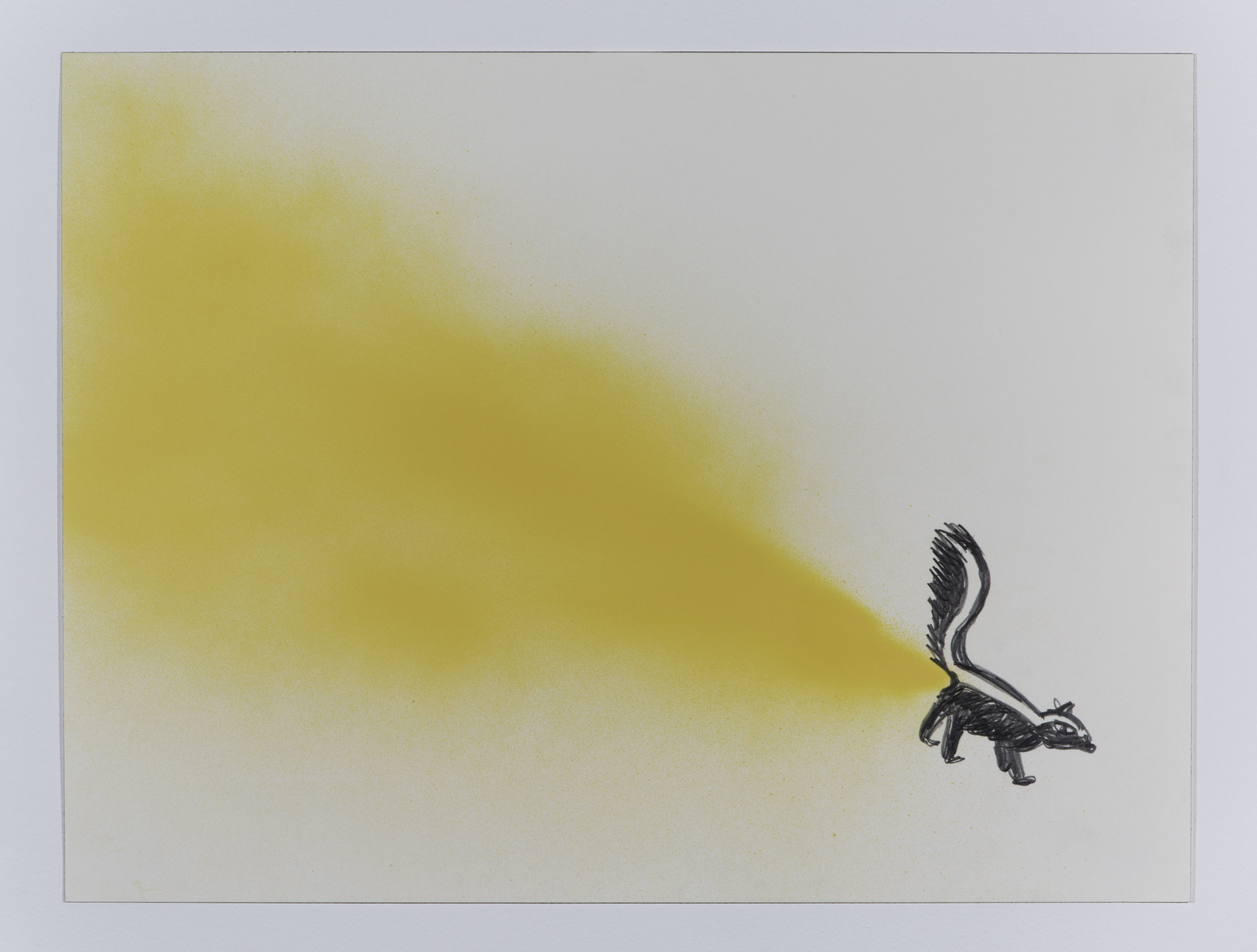 Lil' Stinker, 2014 spray paint and pencil on paper 45,7 x 61 cm - 18 x 24 inches