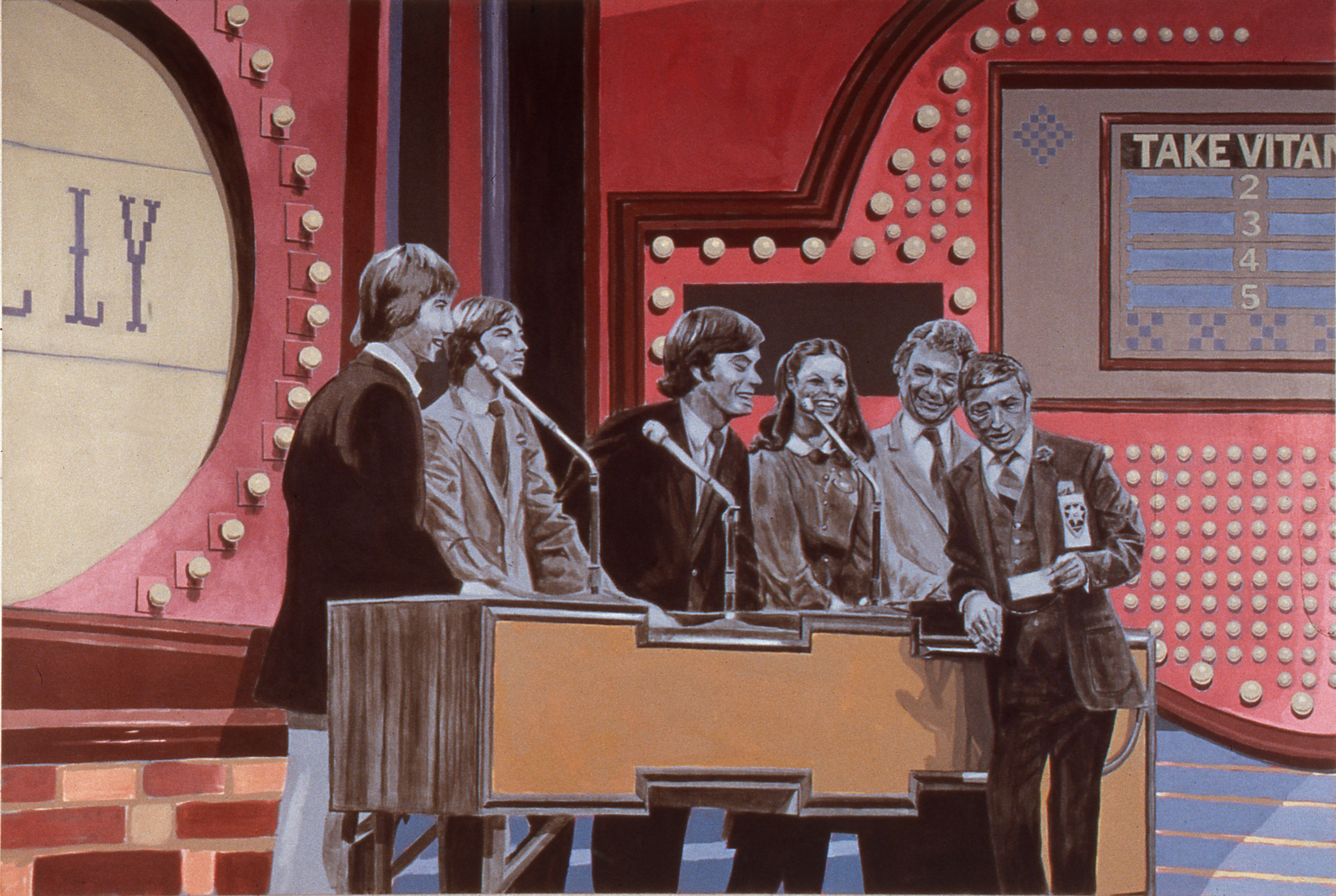 Family Feud, 1995 acrylic on canvas 137,2 x 203,2 cm - 54 x 80 inches