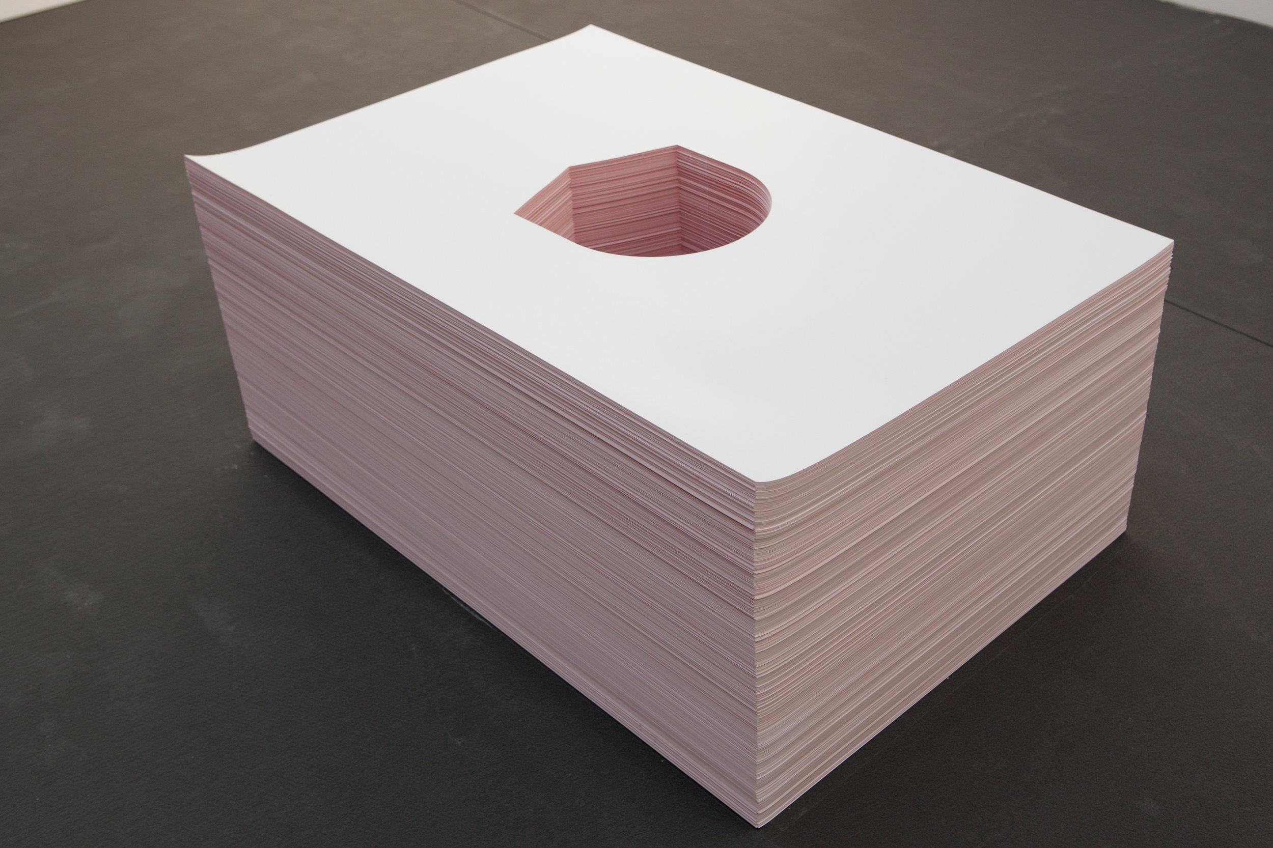Near Mount Rainer, 2011 1500 offset prints 70 x 100 x 70 cm - 27 1/2 x 39 3/8 x 27 1/2 inches