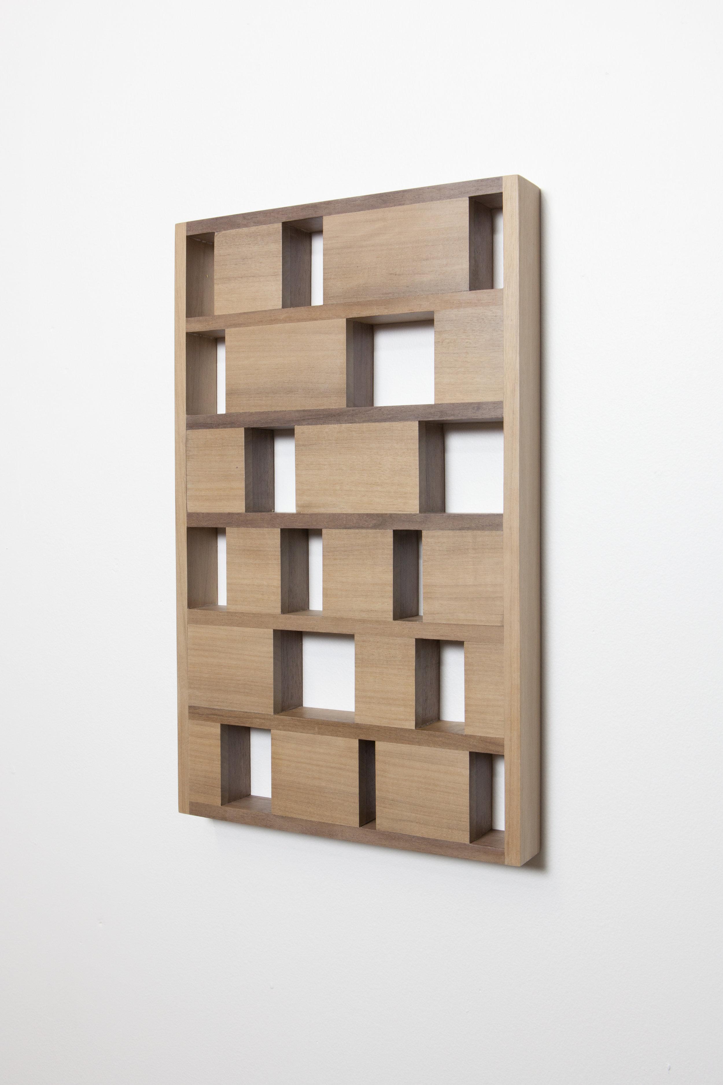 Module pour la conquête de l'espace (...), 2013 walnut 25 x 41,5 x 4 cm - 9 7/8 x 16 3/8 x 1 5/8 inches
