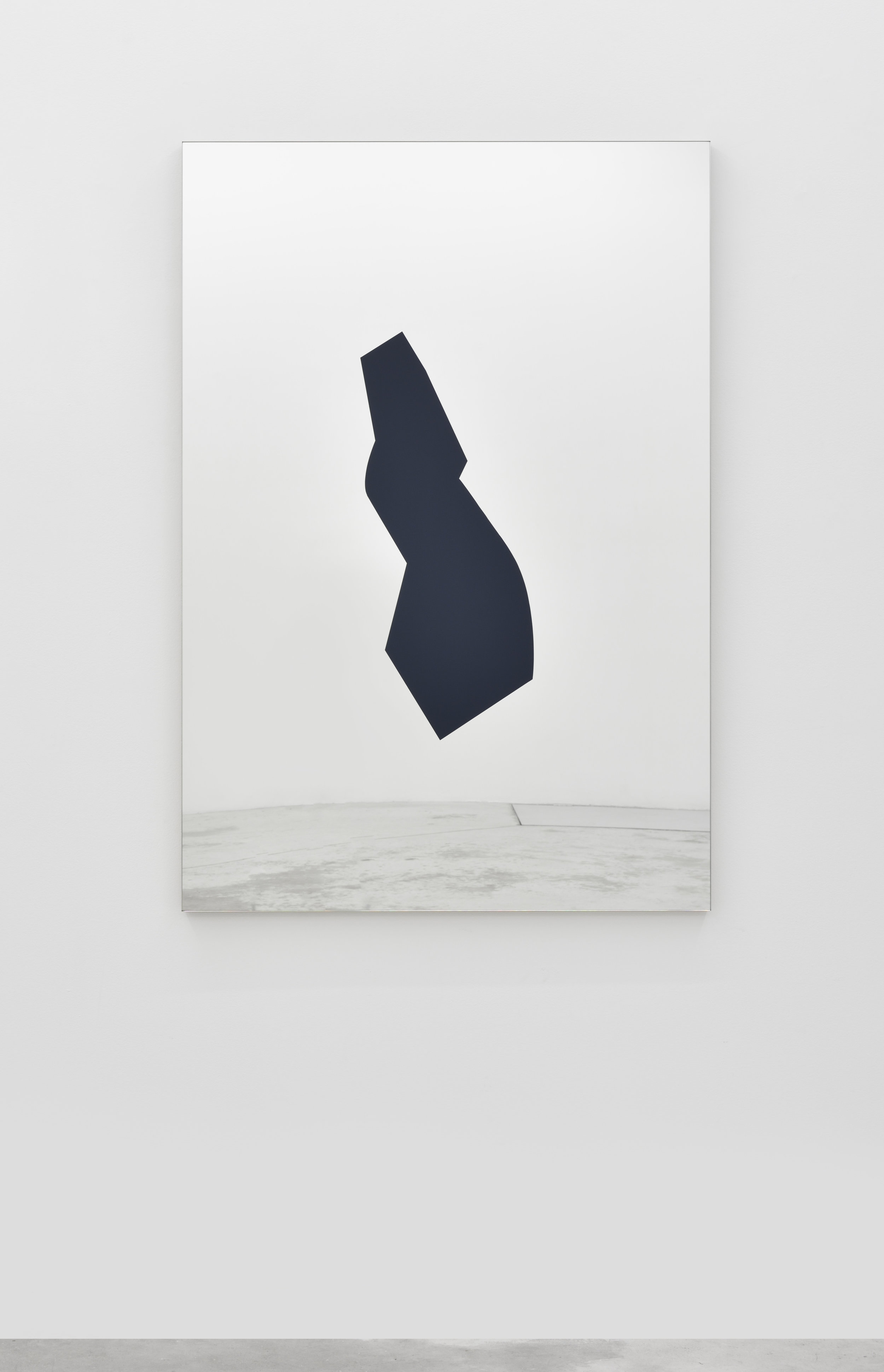 Mirage (60P), 2016 gloss paint on mirror 130 x 89 cm - 51 1/8 x 35 inches