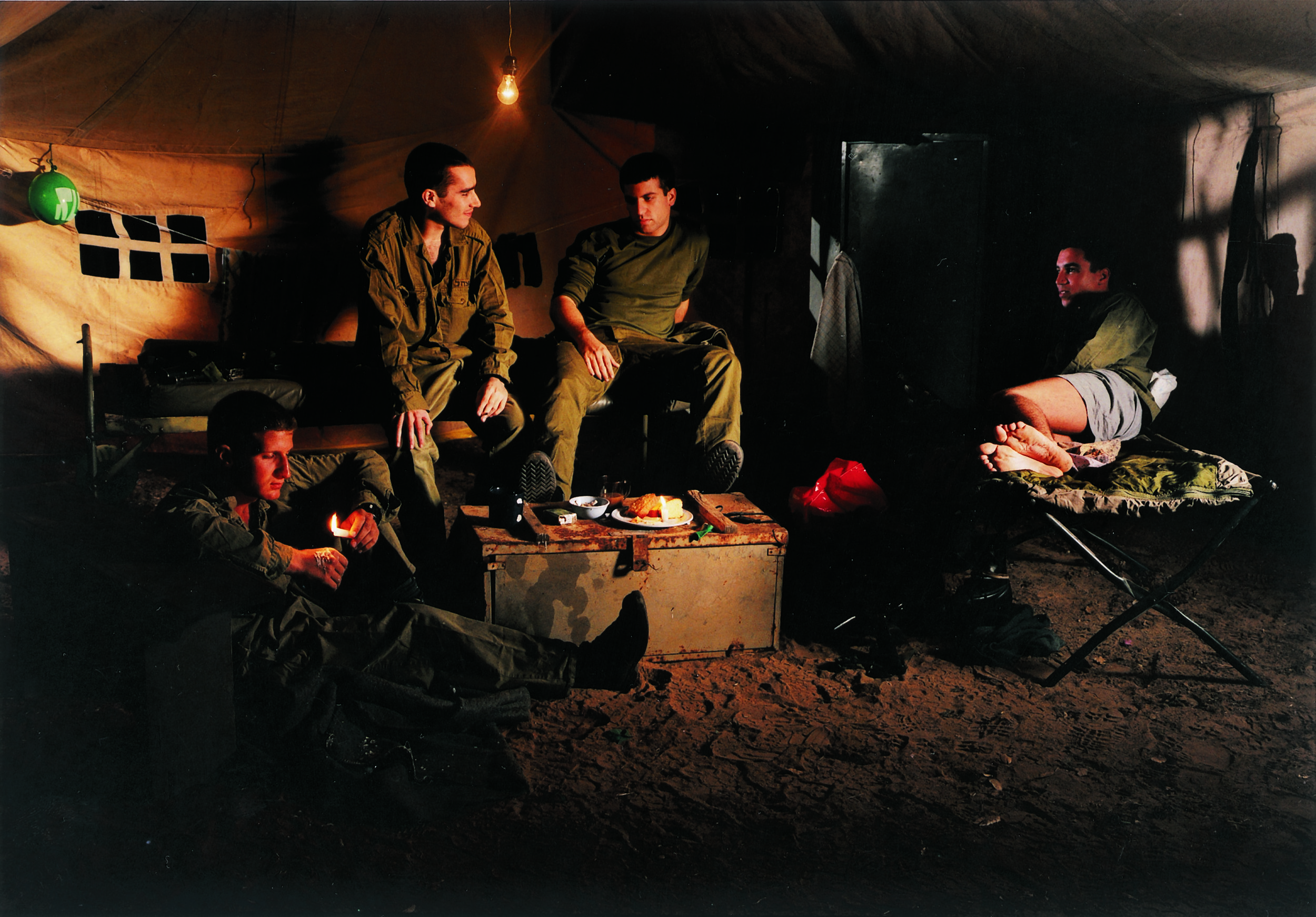 """""""Untitled"""" from the """"Soldiers"""" series, 2000 color photograph mounted on PVC edition of 6 90 x 130 cm - 35 3/8 x 51 1/8 inches"""