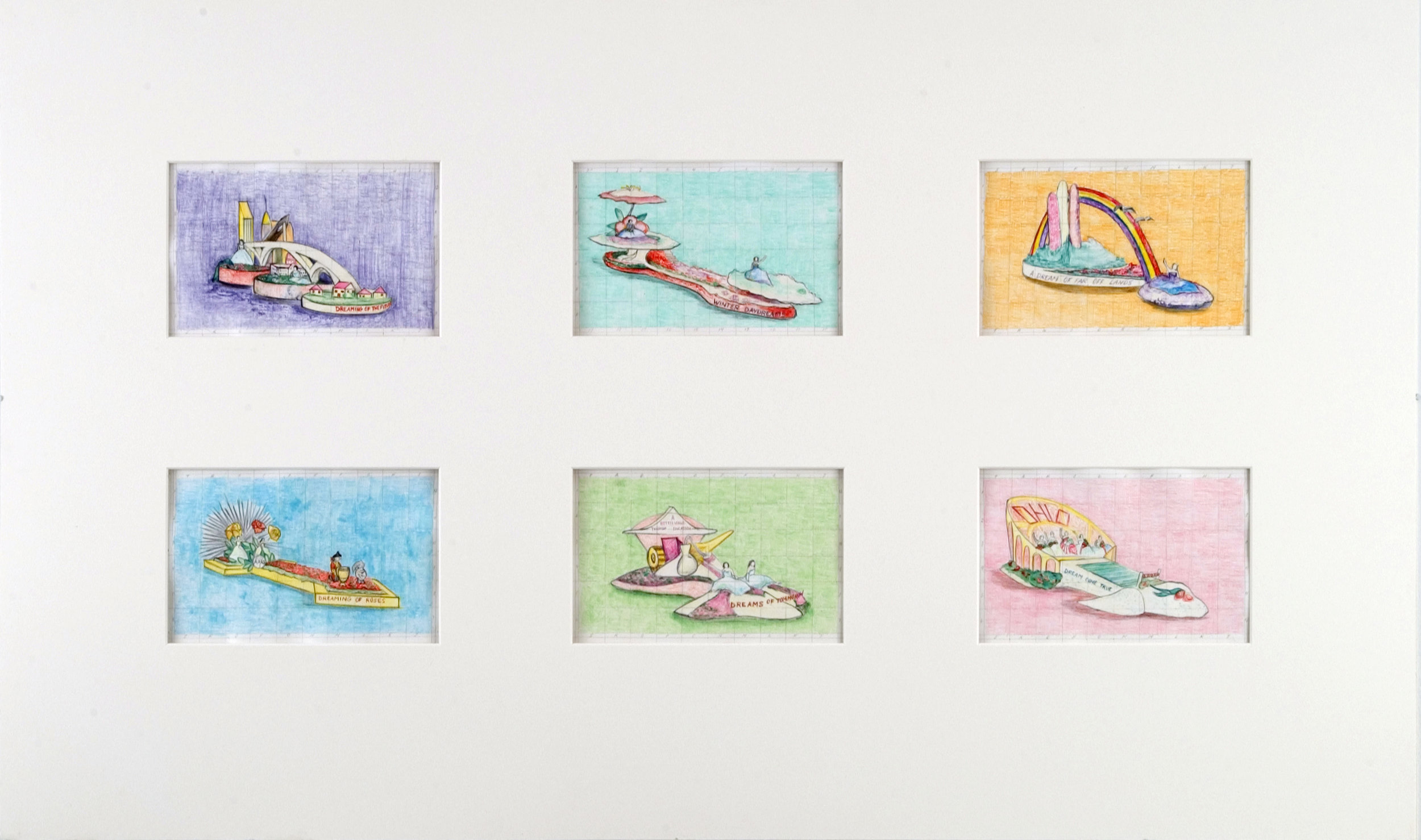 1/8 scale study for 6 parade float memorial murals, 2004 pencil on paper 65 x 108,5 cm - 25 5/8 x 42 3/4 inches