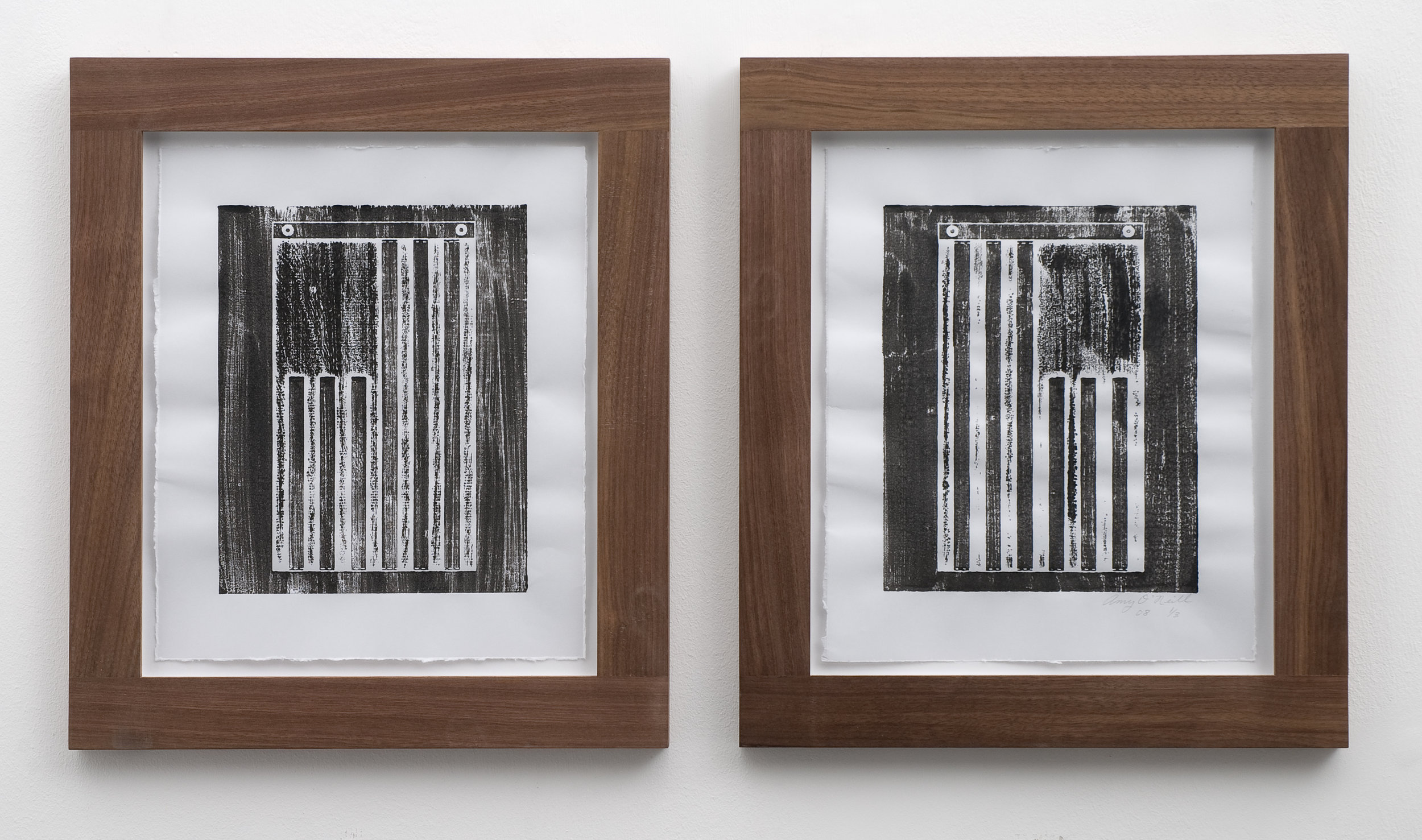 Stripes, 2008 woodcut prints 32 x 26,5 cm - 12 1/2 x 10 3/8 inches (each)