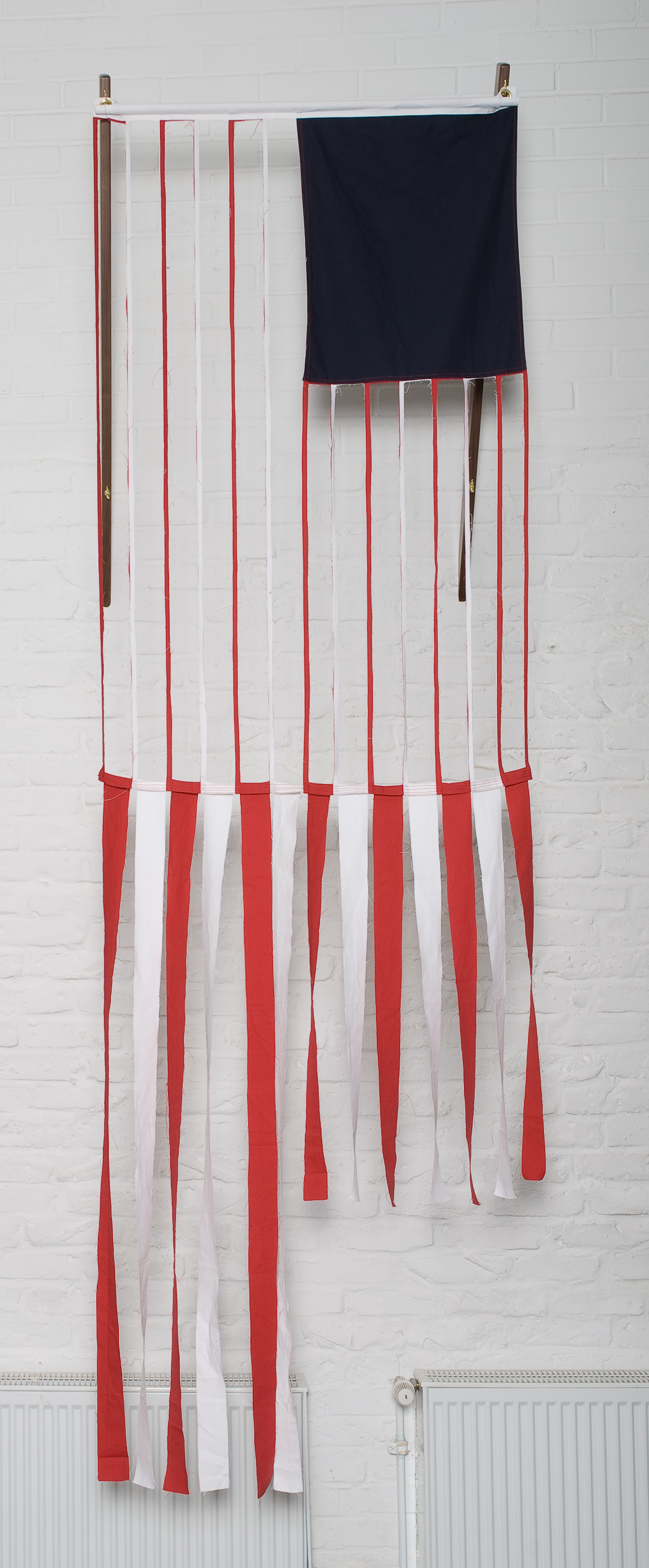 Red/White Stripes, 2008 cotton canvas 152 x 91 cm - 59 7/8 x 35 7/8 inches