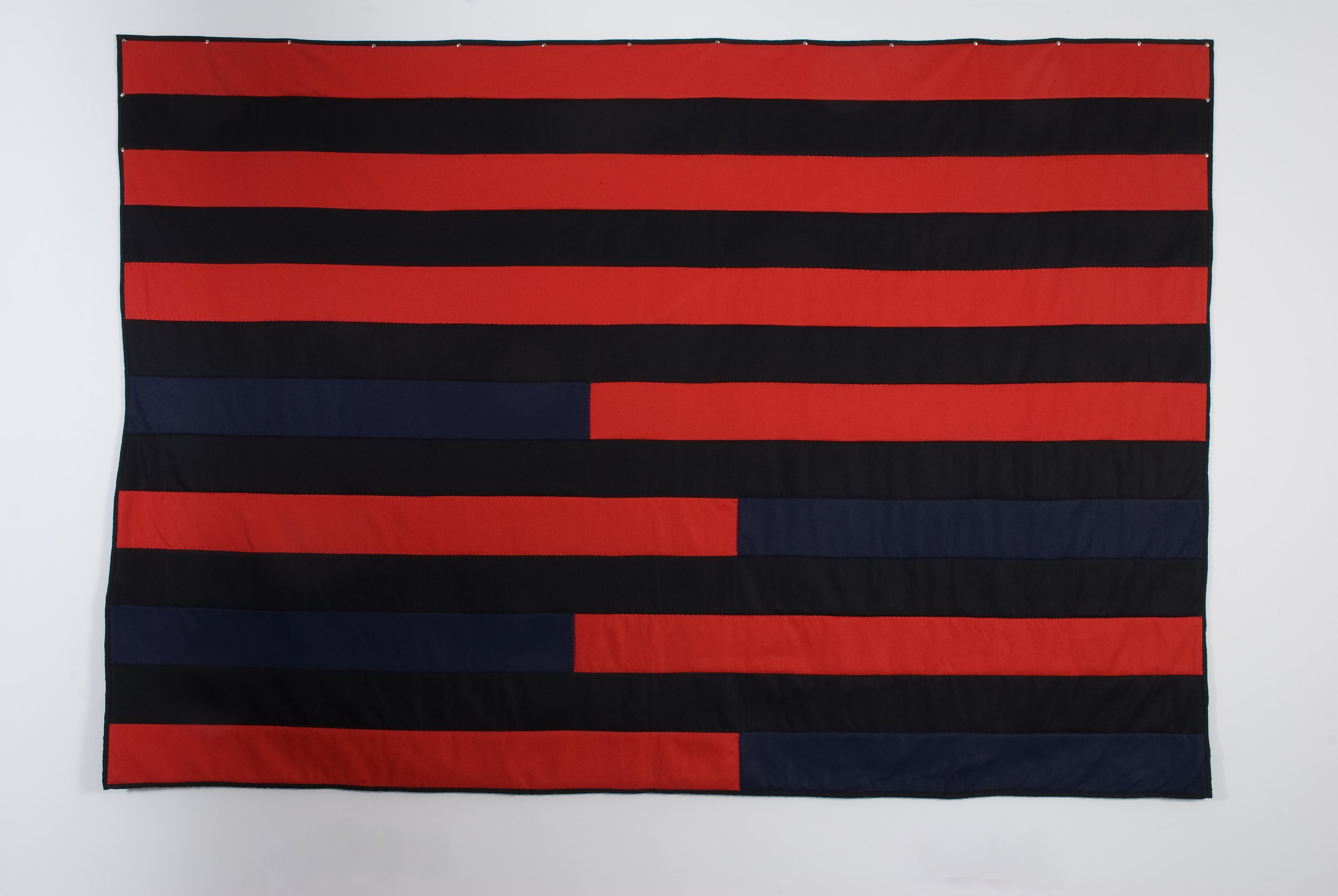 Bars, 2008 felted wool and cotton 180 x 261 cm - 71 x 102 3/4 inches
