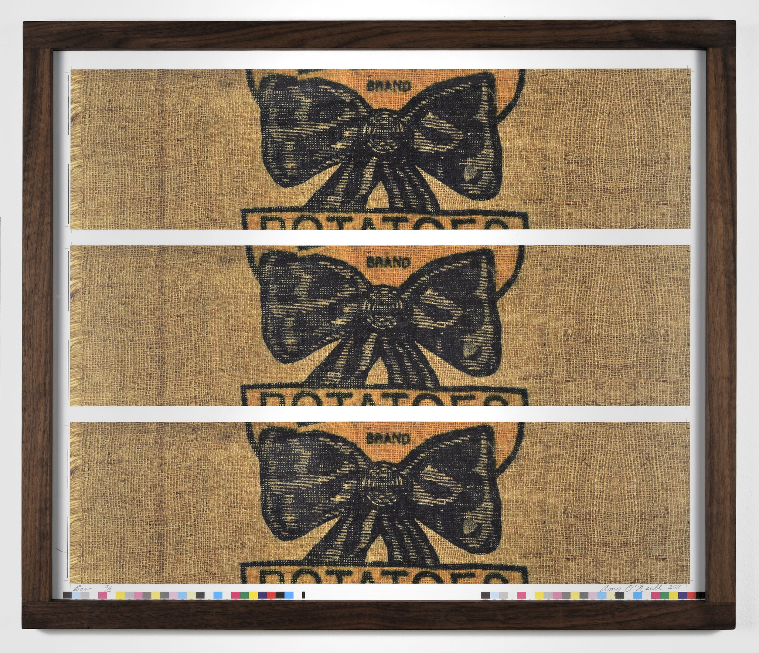 Bow, 2011 offset lithography and walnut wood frame 54,6 x 64 cm - 21 1/2 x 25 1/4 inches