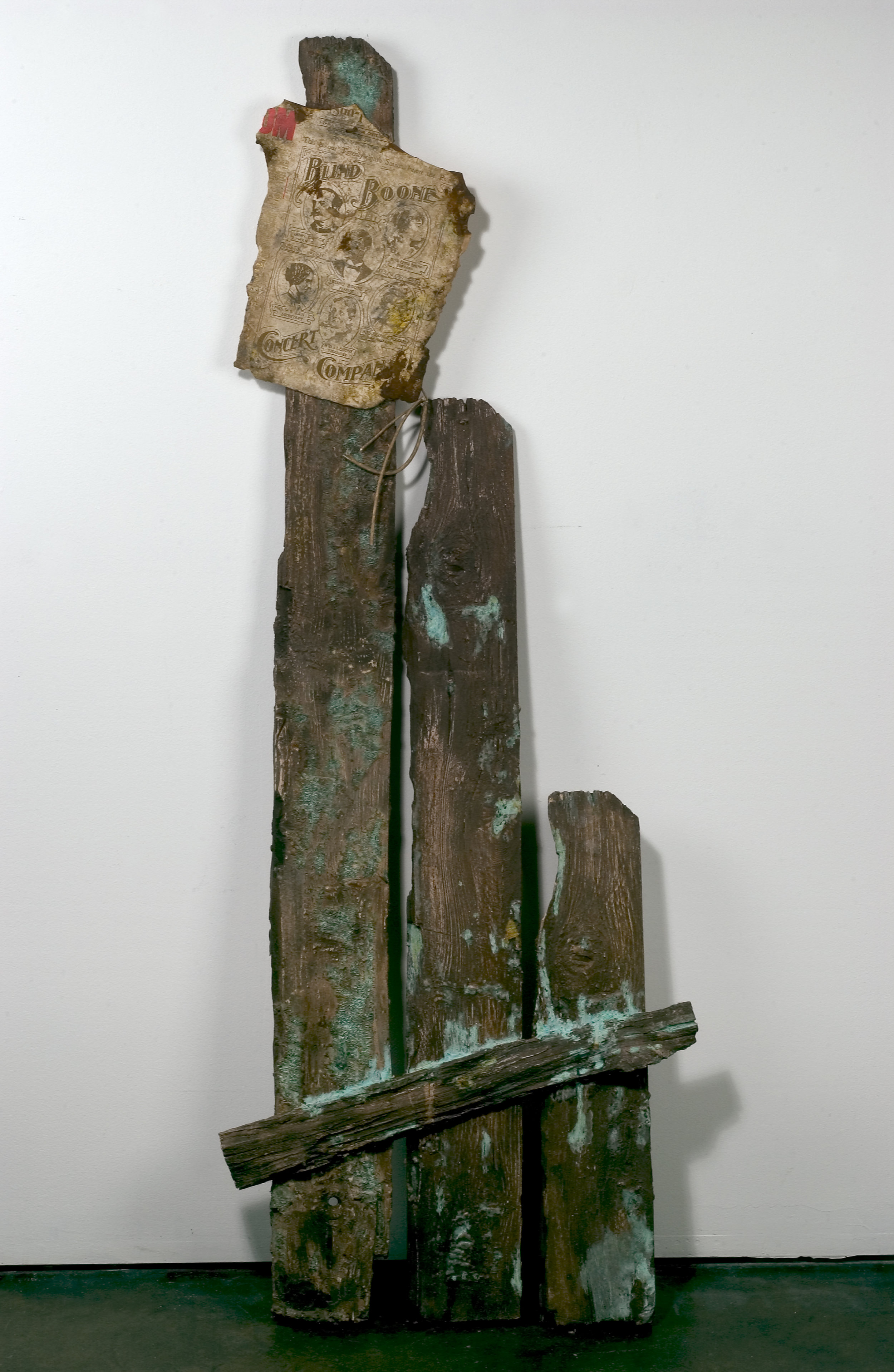 Blind Willie Boone, 2004 bullet lead, zinc, brass, water extendable resin, pigments, rust, typeset 150 x 42 x 2,5 cm - 59 x 16 1/2 x 1 inches