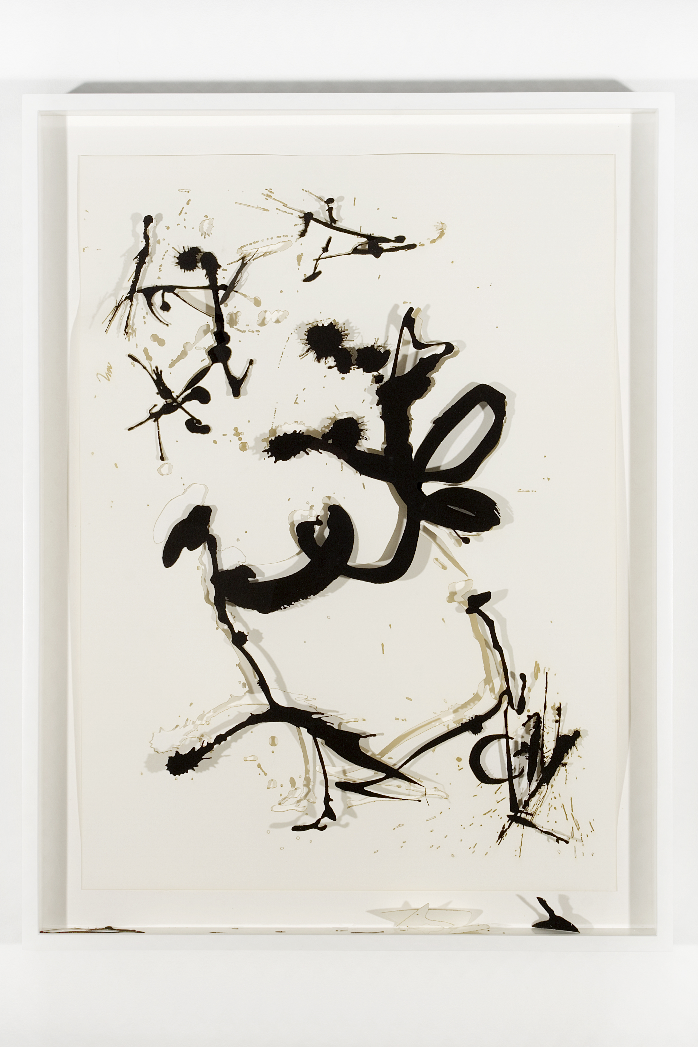 "Collapsed Drawing: ""Unknown Title"" (Jackson Pollock), 2007 laser-cut paper and laser-cut archival digital print mounted on museum board 79,5 x 60,4 cm - 31 1/4 x 23 3/4 inches (framed)"