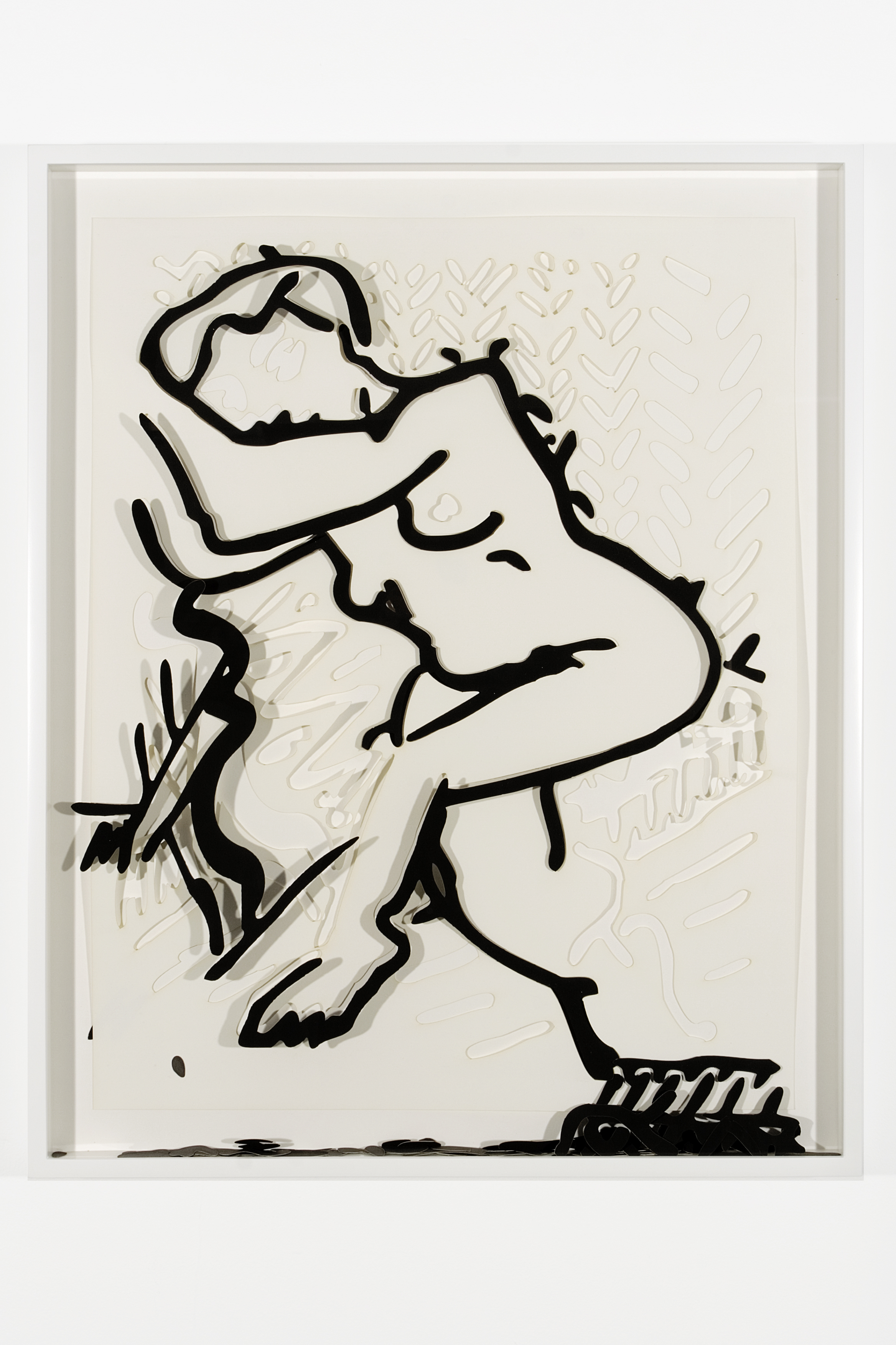 "Collapsed Drawing: ""Unknown Title"" (Henri Matisse), 2007 laser-cut paper and laser-cut archival digital print mounted on museum board 81 x 65,6 cm - 31 3/4 x 25 7/8 inches (framed)"