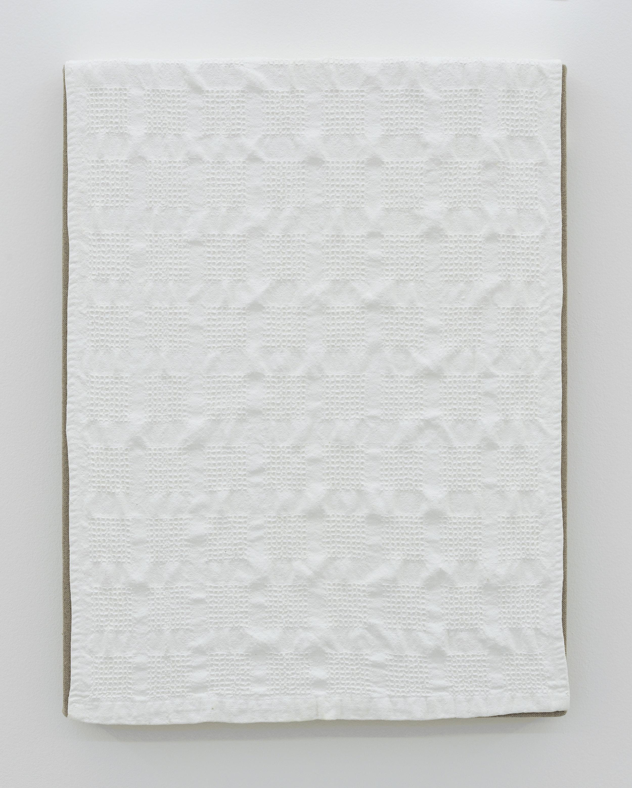 Dish Towel, 2011 acrylic on canvas 46 x 35,5 x 4 cm - 18 1/8 x 14 x 1 5/8 inches