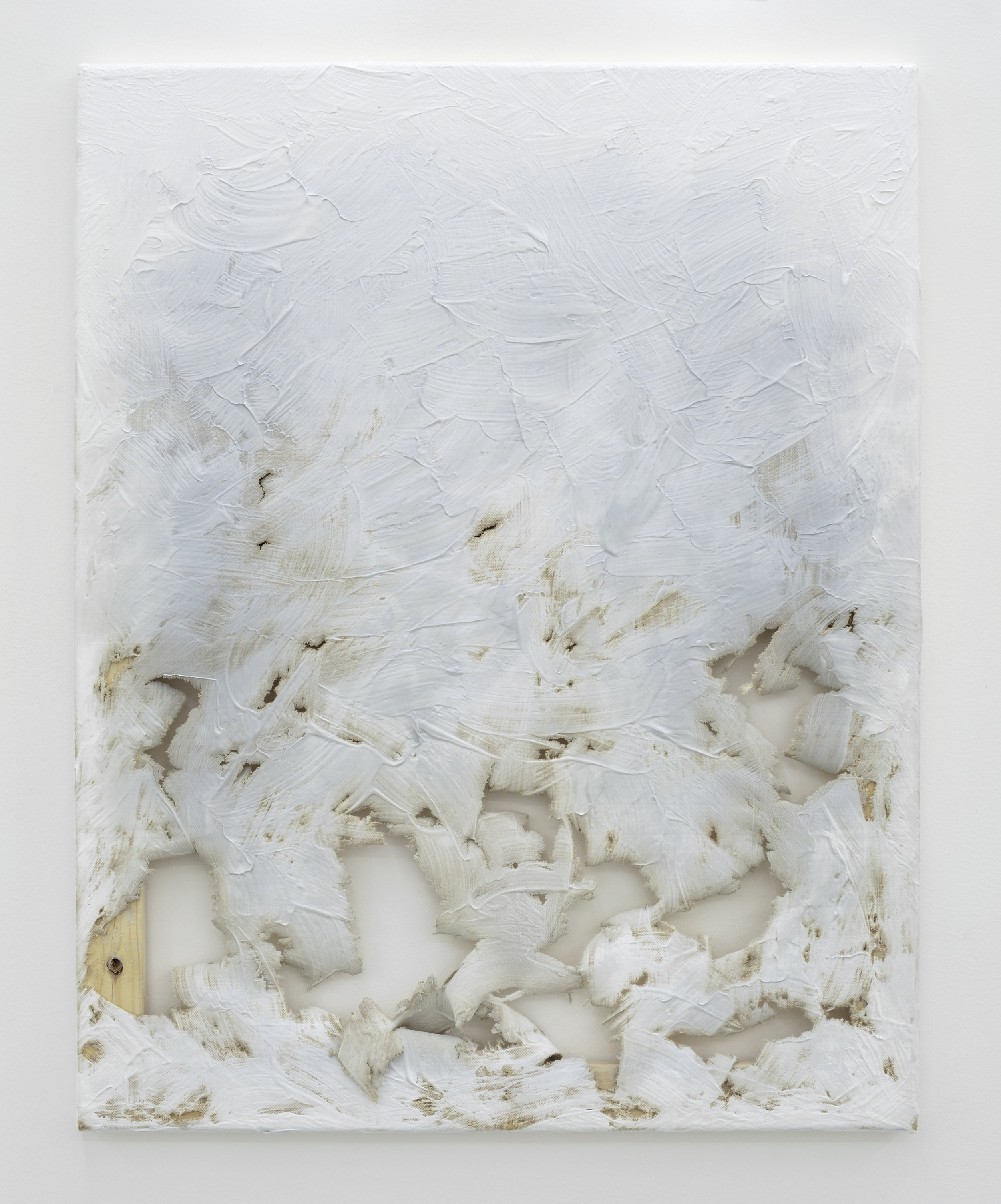 Fade Out (from White) #2, 2011 laser-carved acrylic on canvas 70,5 x 56 x 2 cm - 27 3/4 x 22 x 0 3/4 inches