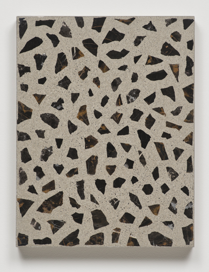 Big Bang Series (in Ten Steps), 2014 concrete and marble on canvas. slab 4/10 66 x 51 x 6,4 cm - 26 x 20 x 2 1/2 inches (each)