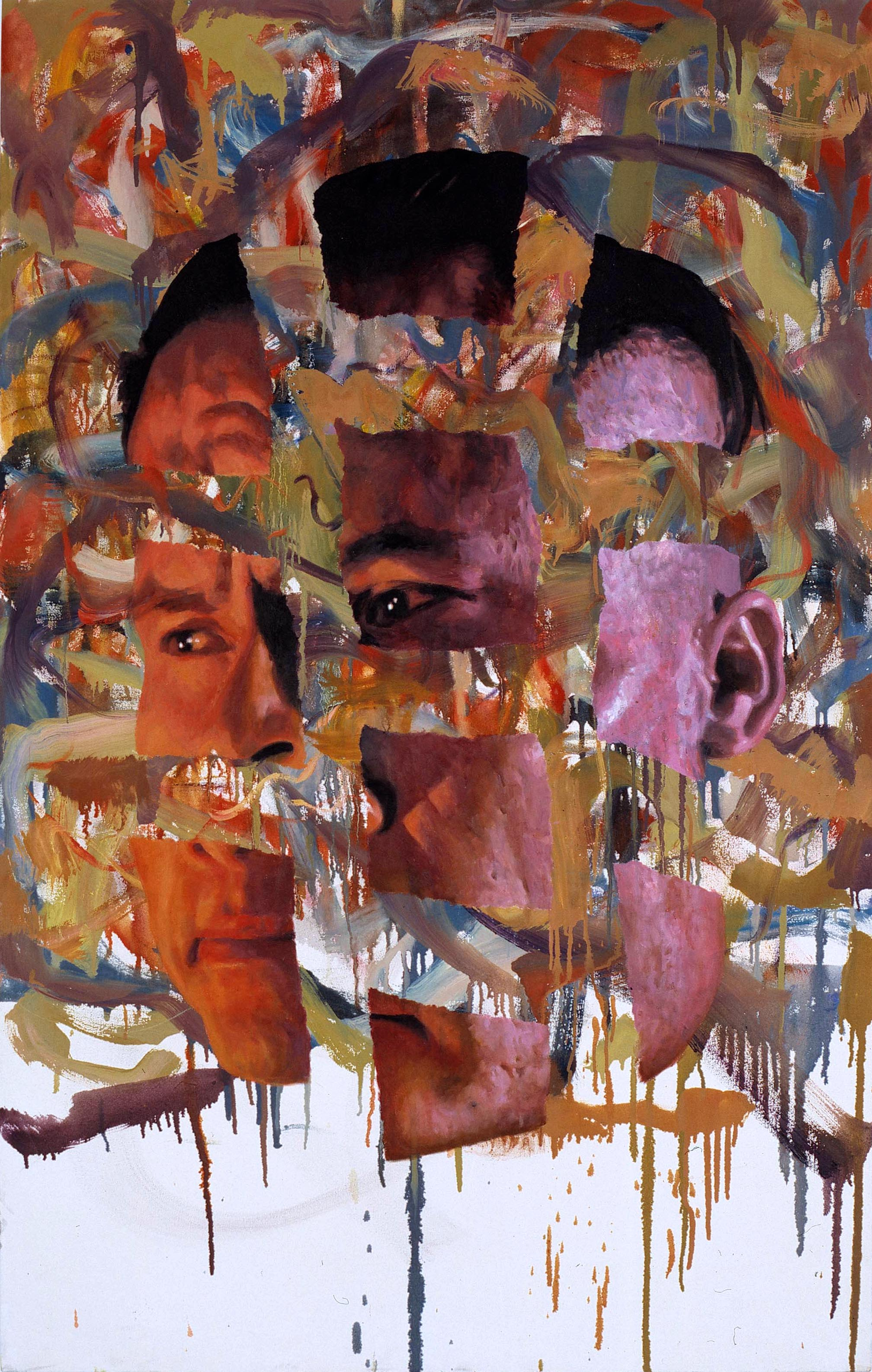 Untitled, Ripped up Face Painting, 2005 oil on canvas 153 x 97,5 cm - 60 1/4 x 38 3/8 inches