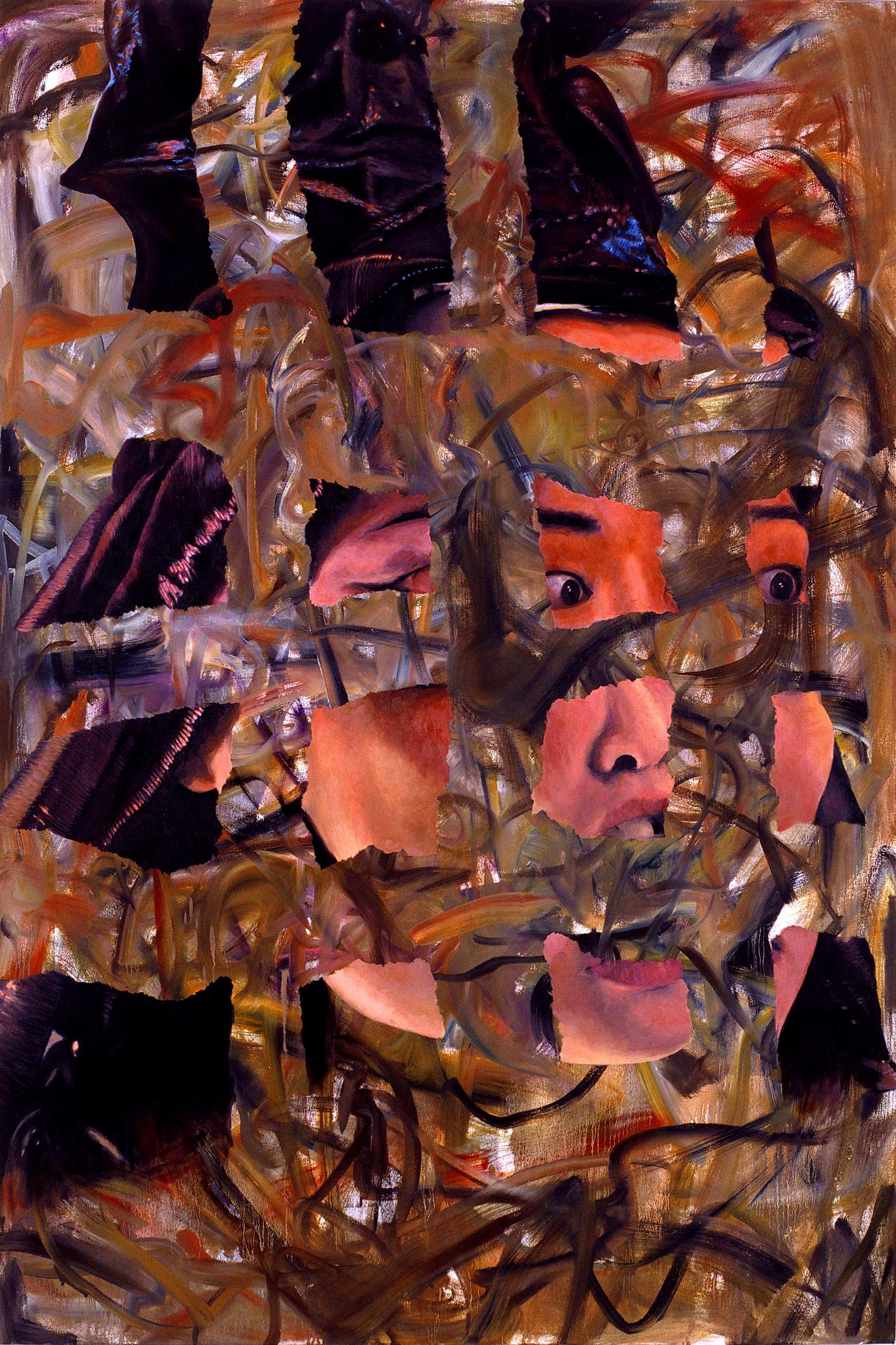 Untitled, Ripped up Face Painting (Sachi), 2005 oil on canvas 184 x 122 cm - 72 1/2 x 48 inches