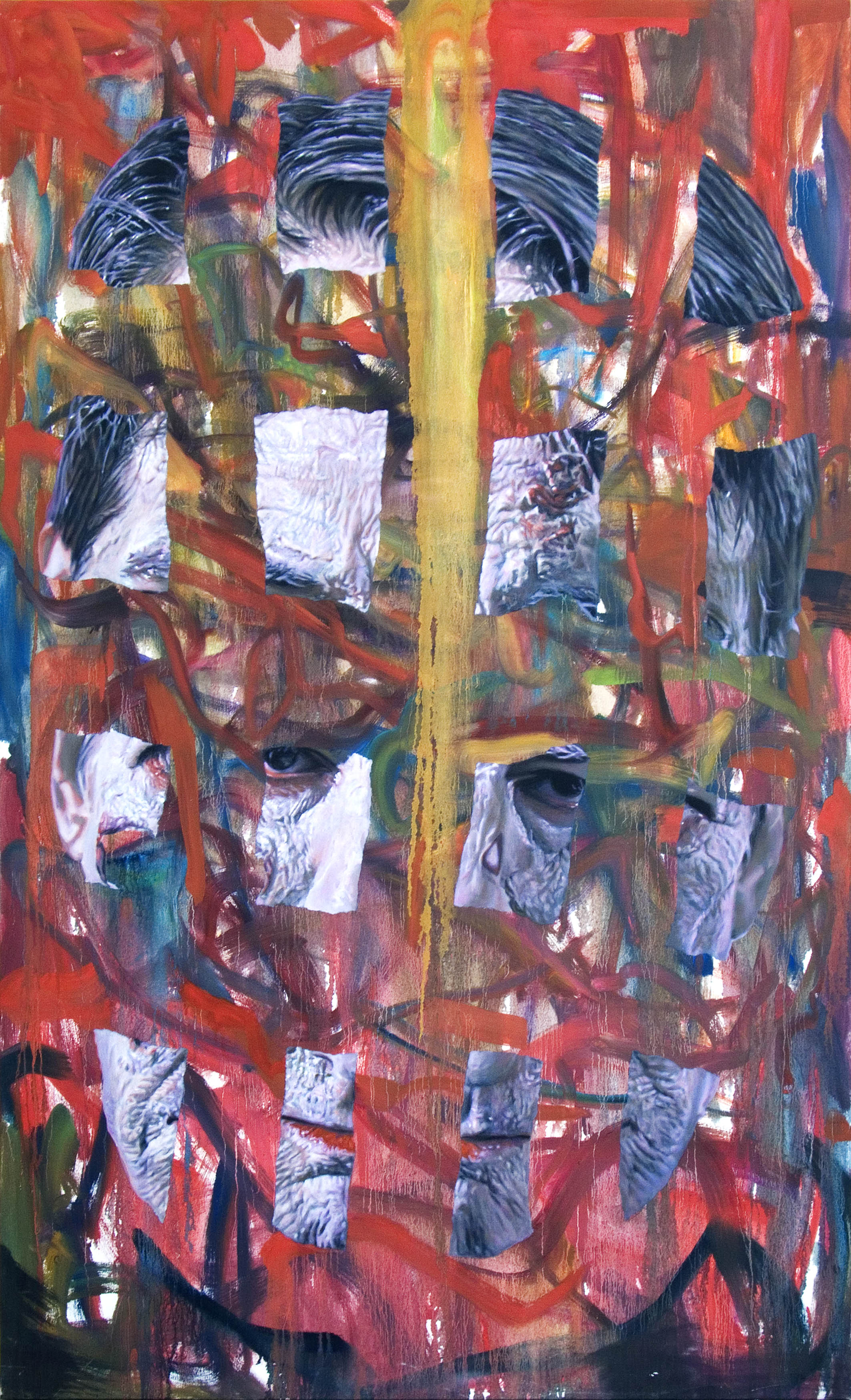 Zombie painting #1, 2007 oil on canvas 193 x 116,8 cm - 76 x 46 inches