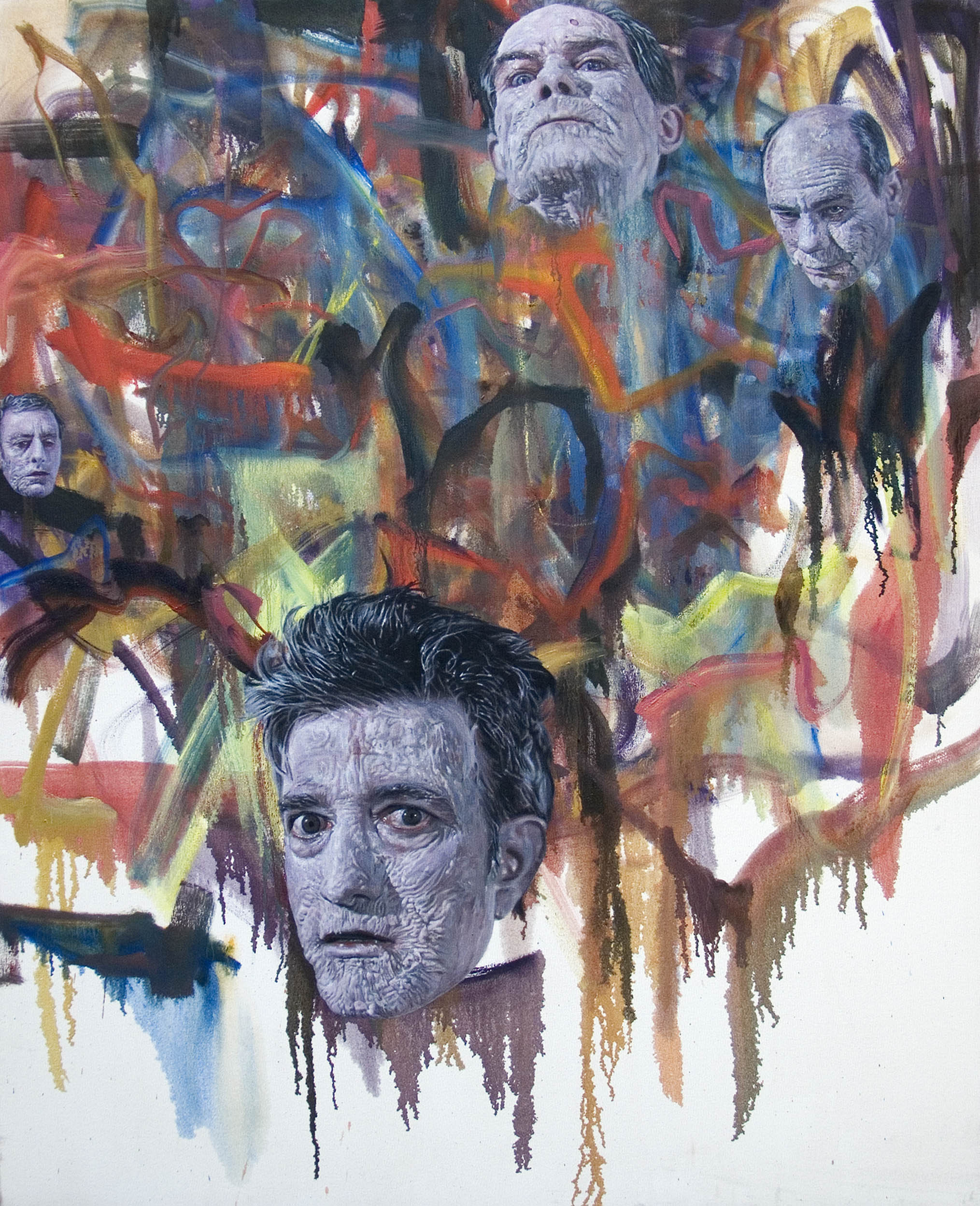 Zombie painting #3, 2007 oil on canvas 152,4 x 122 cm - 60 x 48 inches