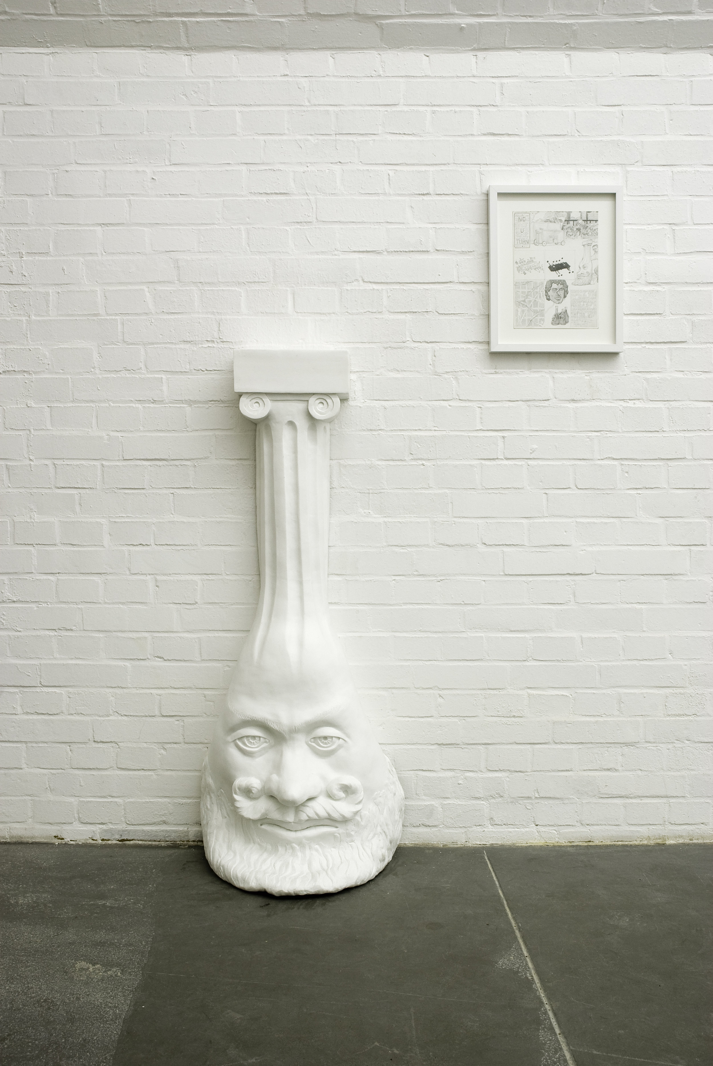 "Dream Object (""I was pouring weird latex columns for Mike that had saggy pagan heads at the bottom.""), 2006 silicon and fiberglass edition of 3 140 x 43 x 35,5 cm - 55 1/8 x 16 7/8 x 14 inches"