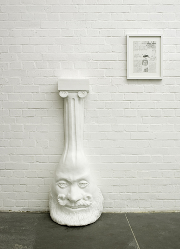 "Dream Object (""I was pouring weird latex columns for Mike that had saggy pagan heads at the bottom...""), 2006 silicon and fiberglass edition of 3 140 x 43 x 35,5 cm - 55 1/8 x 16 7/8 x 14 inches"