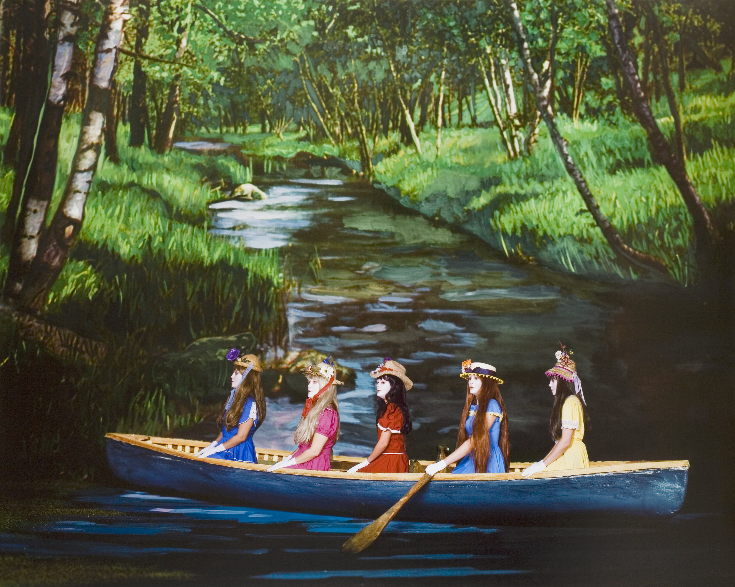 Voyage in The Canoe, 2008 collages on archival pigment print mounted on Sintra 104 x 129 cm - 40 15/16 x 50 13/16 inches (framed)