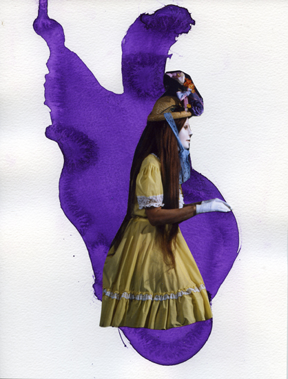 """""""The New Hat (6.01.12)"""" from """"The Diary Project"""", 2012 collage on paper 27,2 x 20,8 cm - 10 x 8 3/16 inches"""