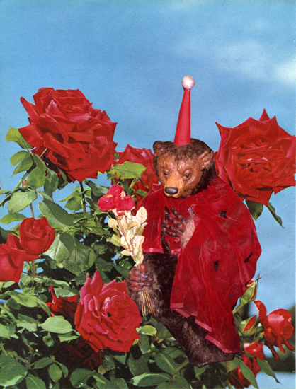 """""""Romantic Bear (6.17.12)"""" from """"The Diary Project"""", 2012 collage on paper 28 x 21,2 cm - 10 x 8 11/32 inches"""