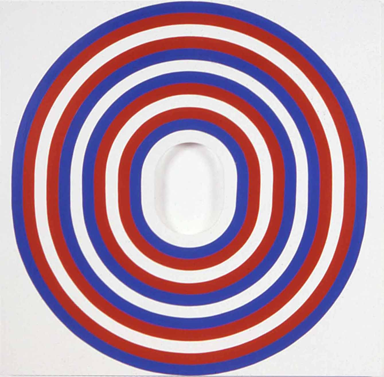 Jim Isermann, Untitled (hole painting) (0388), 1988 enamel paint on wood 122 x 122 x 5 cm - 48 x 48 x 2 inches