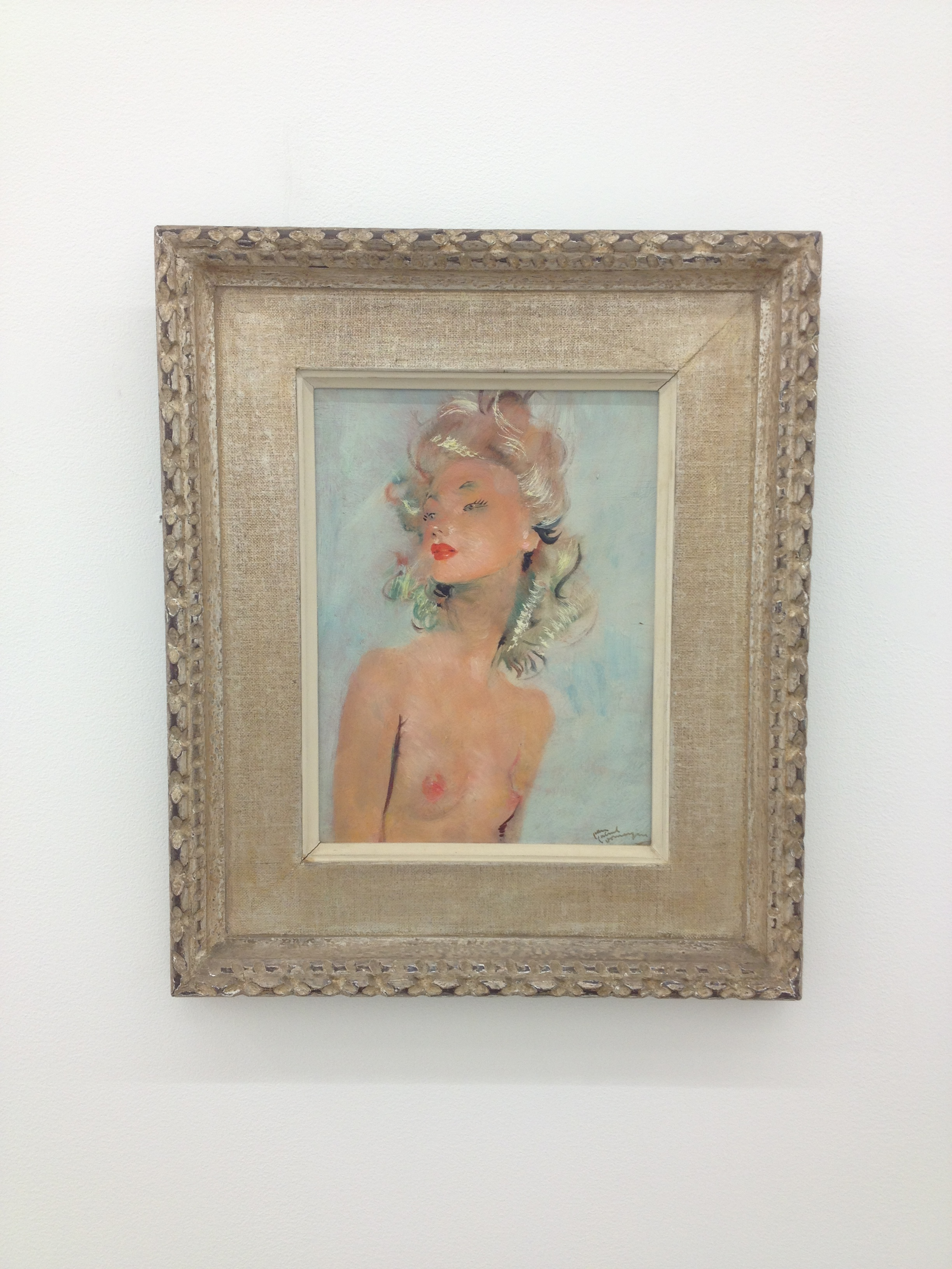 Jean-Gabriel Domergue, La Blonde, 1946 oil on wood 48,2 x 40,5 x 4 cm - 19 x 16 x 1 5/8 inches (framed)