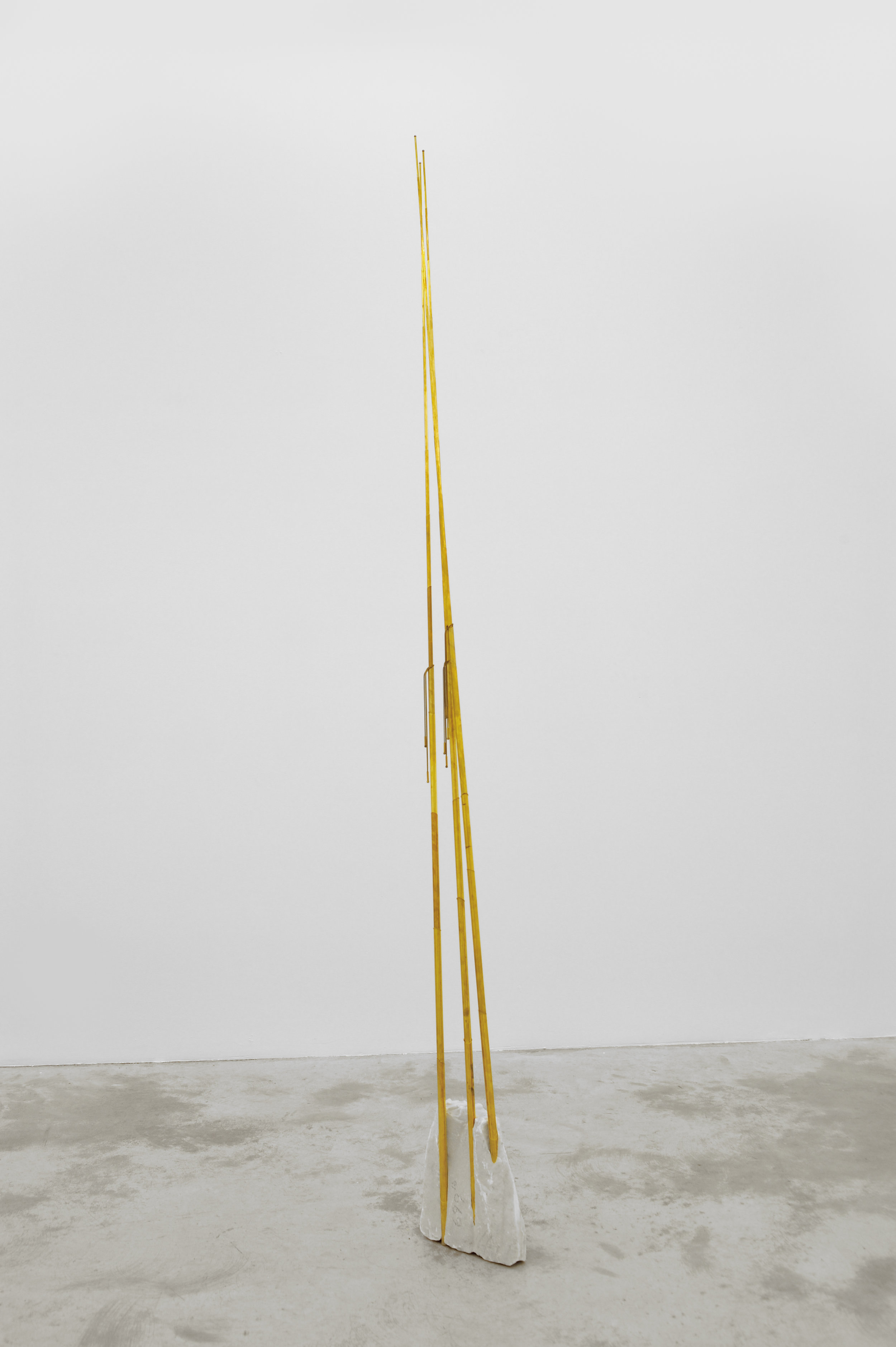 Elaine Cameron-Weir, Egyptian Technologies, 2013 brass, marble 274 x 36 x 8 cm - 108 x 14 x 3 inches