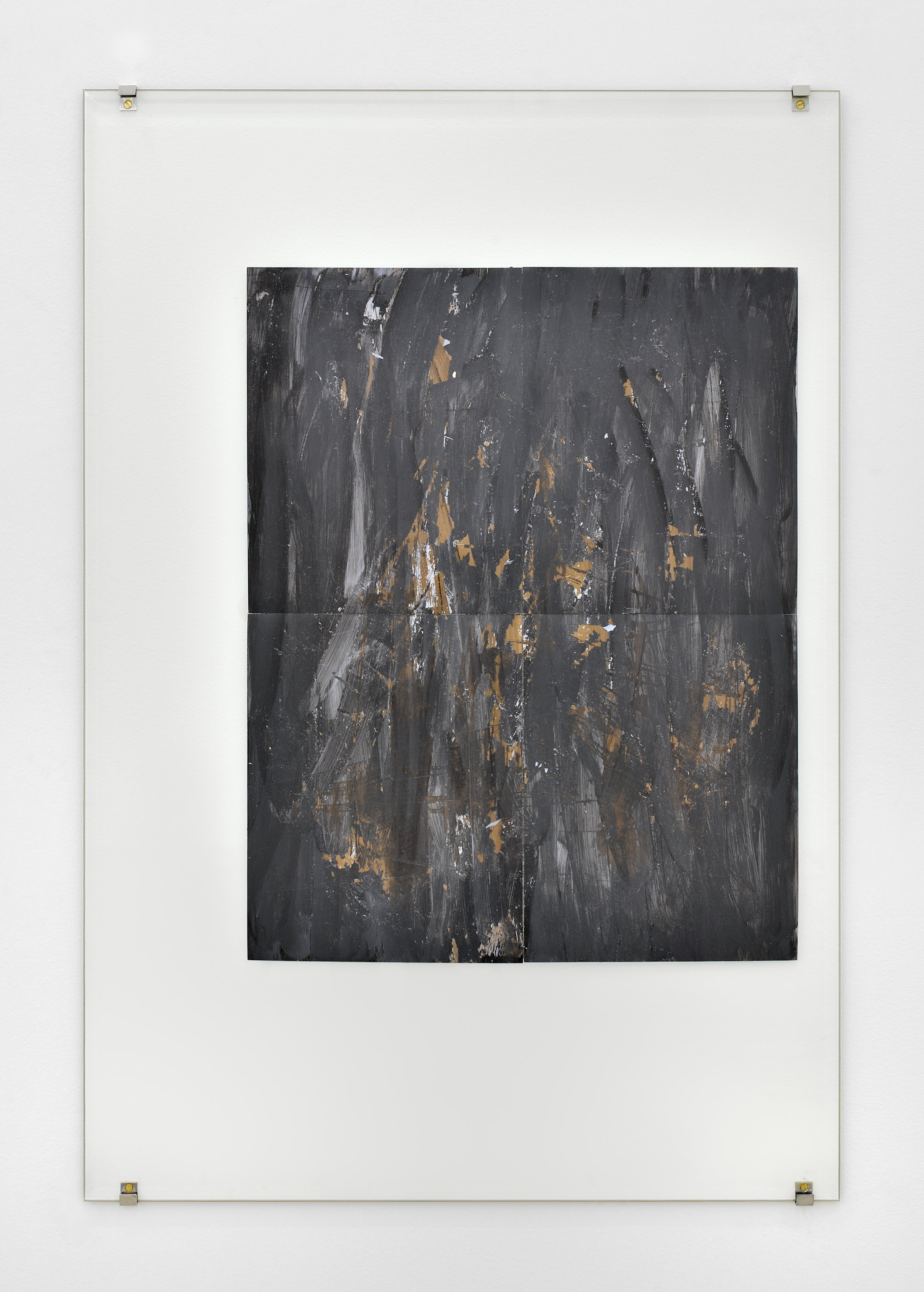 Jo-ey Tang, FTLID, 2013 glass, shoe polish, photographic paper 98 x 66 cm - 35 1/2 x 26 inches