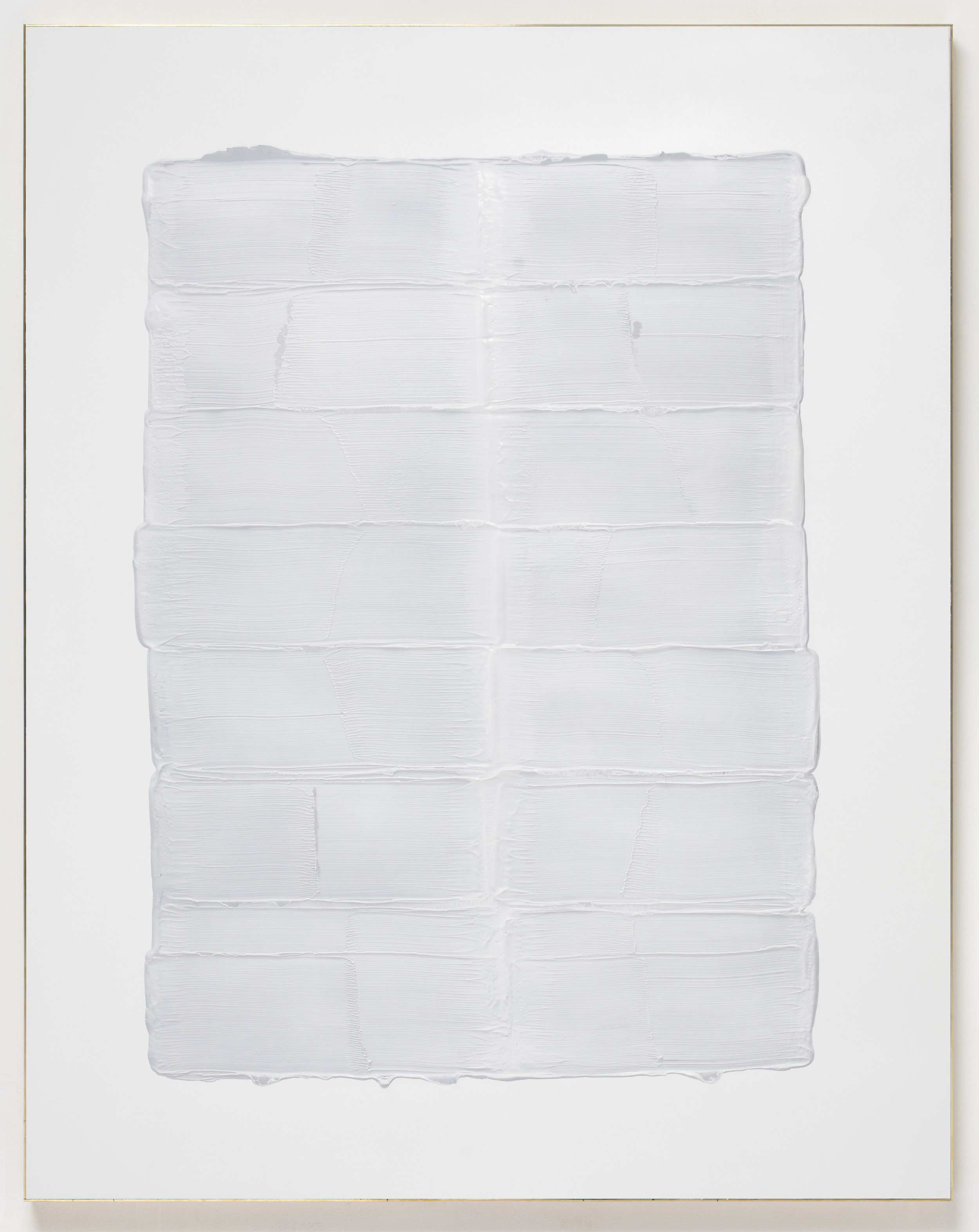 Joe Reihsen, We Are Breathing, 2015 acrylic on birch panel, brass frame 153 x 120 x 4 cm - 60 1/4 x 47 1/4 x 1 5/8 inches (framed)
