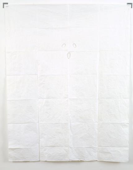 Ulla von Brandenburg, Geist (Fantôme), 2007 acrylic on silk paper 163,5 x 128,5 x 4,5 cm - 64 3/8 x 50 5/8 x 1 3/4 inches (framed)