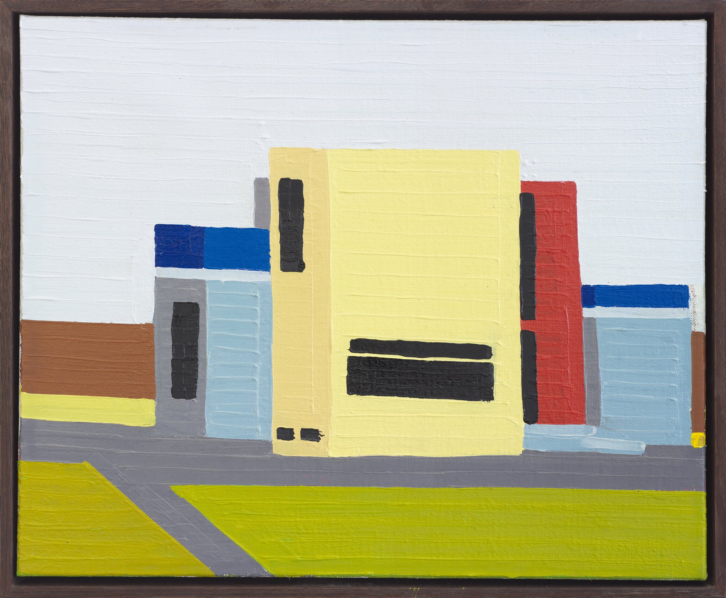Guy Yanai, Single Family House, 2015 oil on linen 37 x 30 cm - 14 5/8 x 11 3/4 inches