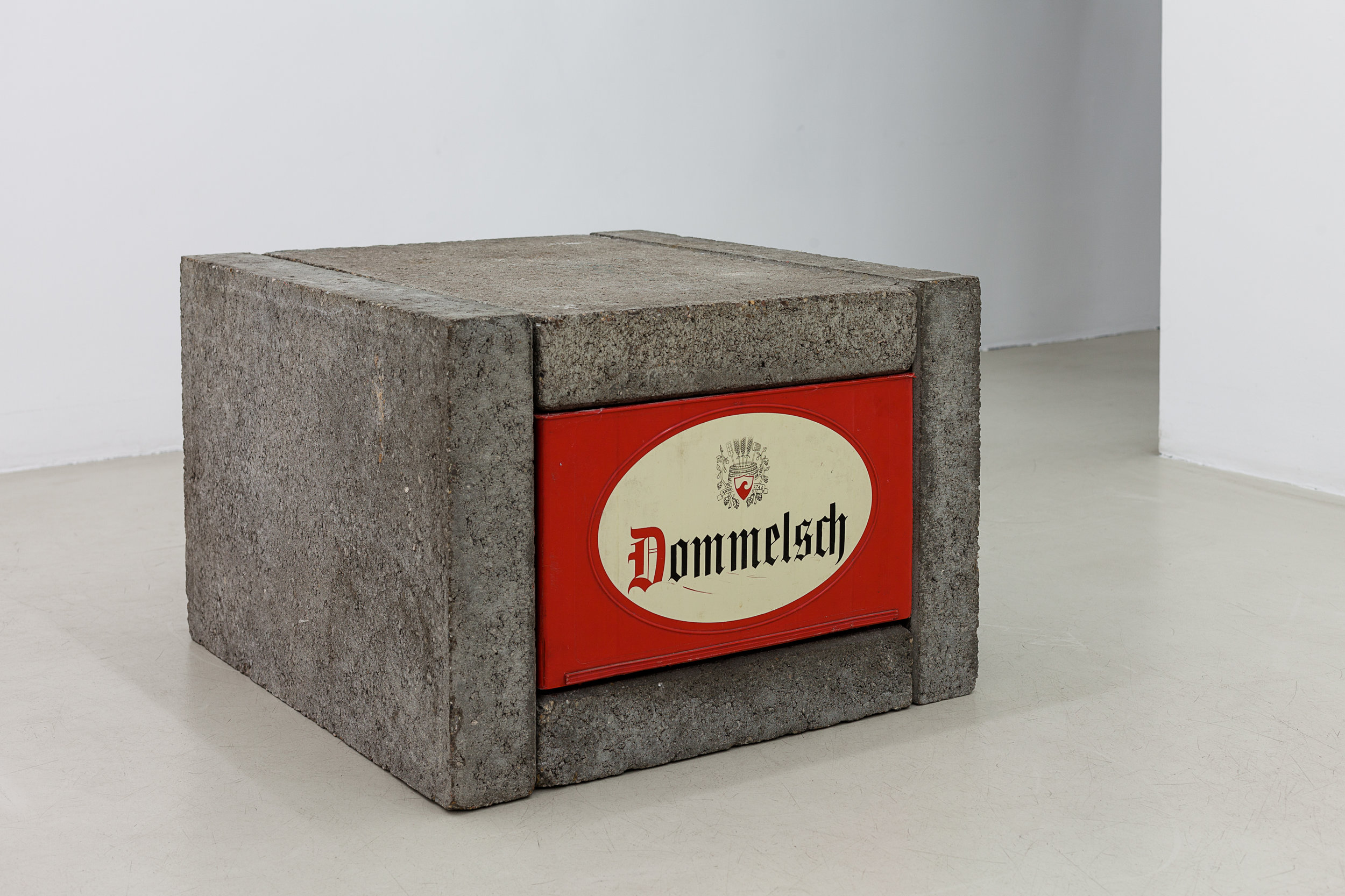 Joep van Lieshout, Untitled (multiple), 1988 concrete slabs, beercrates, beerbottles edition of 15 40 x 56 x 60 cm - 15 3/4 x 22 x 23 5/8 inches