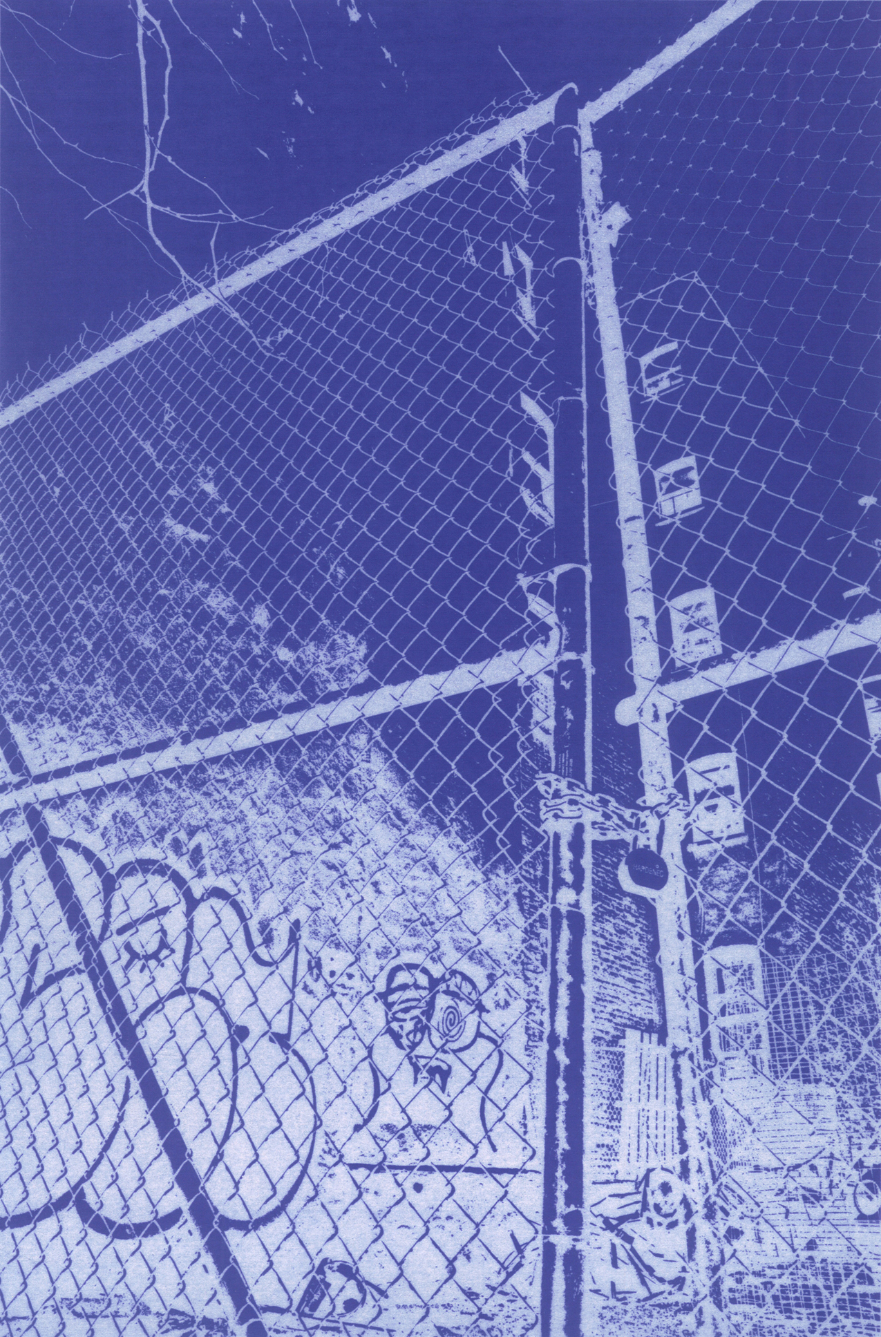 Tony Stamolis, 9 East 3rd Street, 2013 cyanotype 43 x 28 cm - 17 x 11 inches