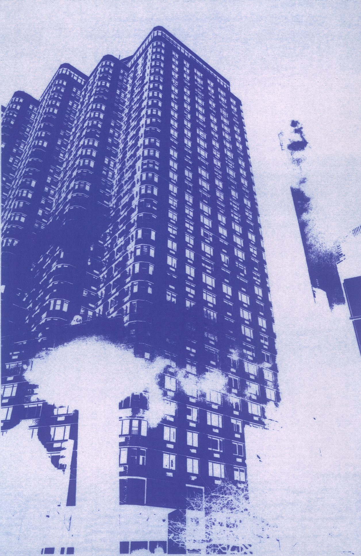 Tony Stamolis, 63 Central Park West, 2013 cyanotype 28 x 43 cm - 11 x 17 inches