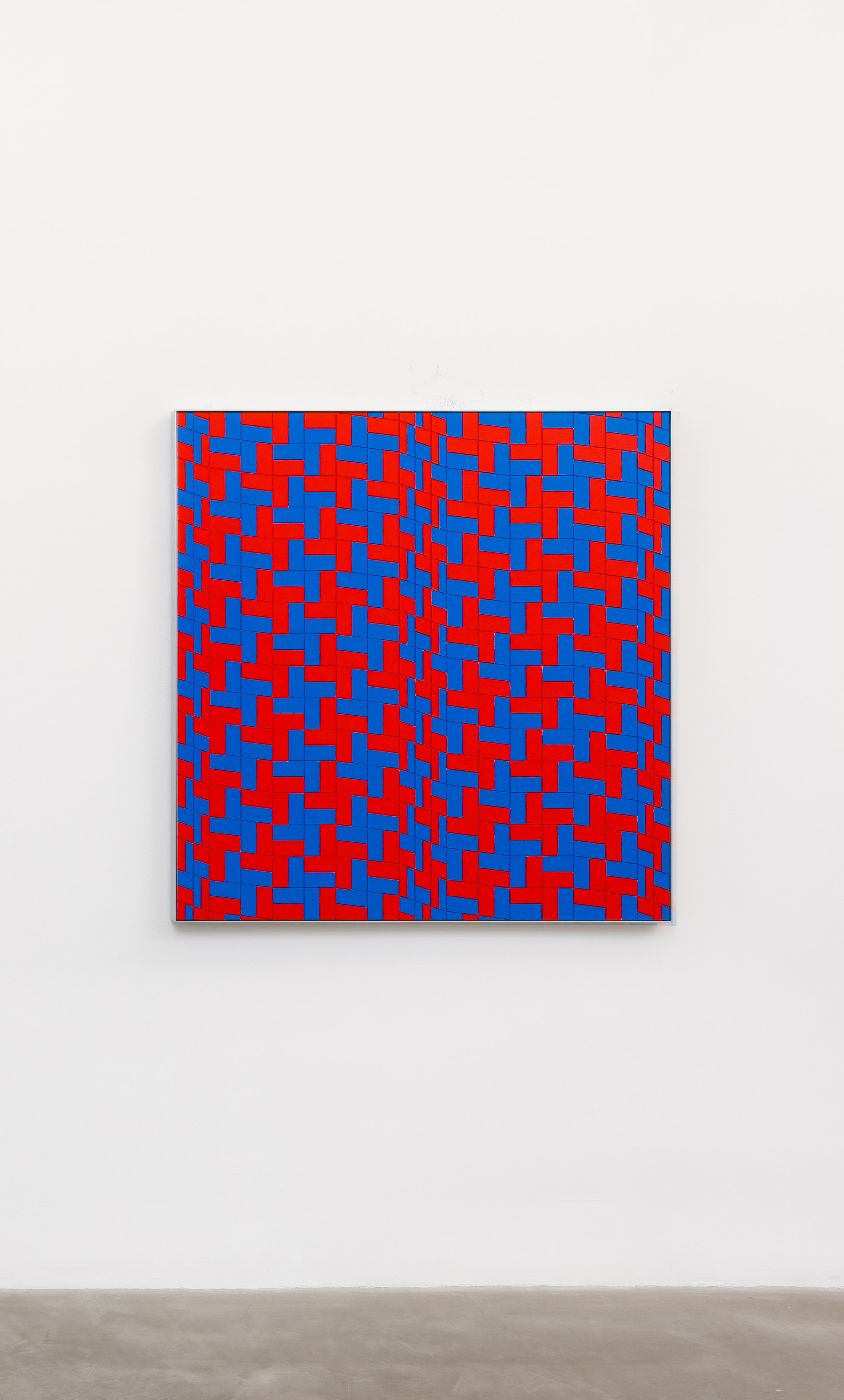 Jim Isermann, Untitled (0115), 2015 acrylic latex paint on computer numerical control milled medium-density fibreboard panel with aluminum frame 122 x 118 x 5 cm - 48 x 46 1/2 x 2 inches
