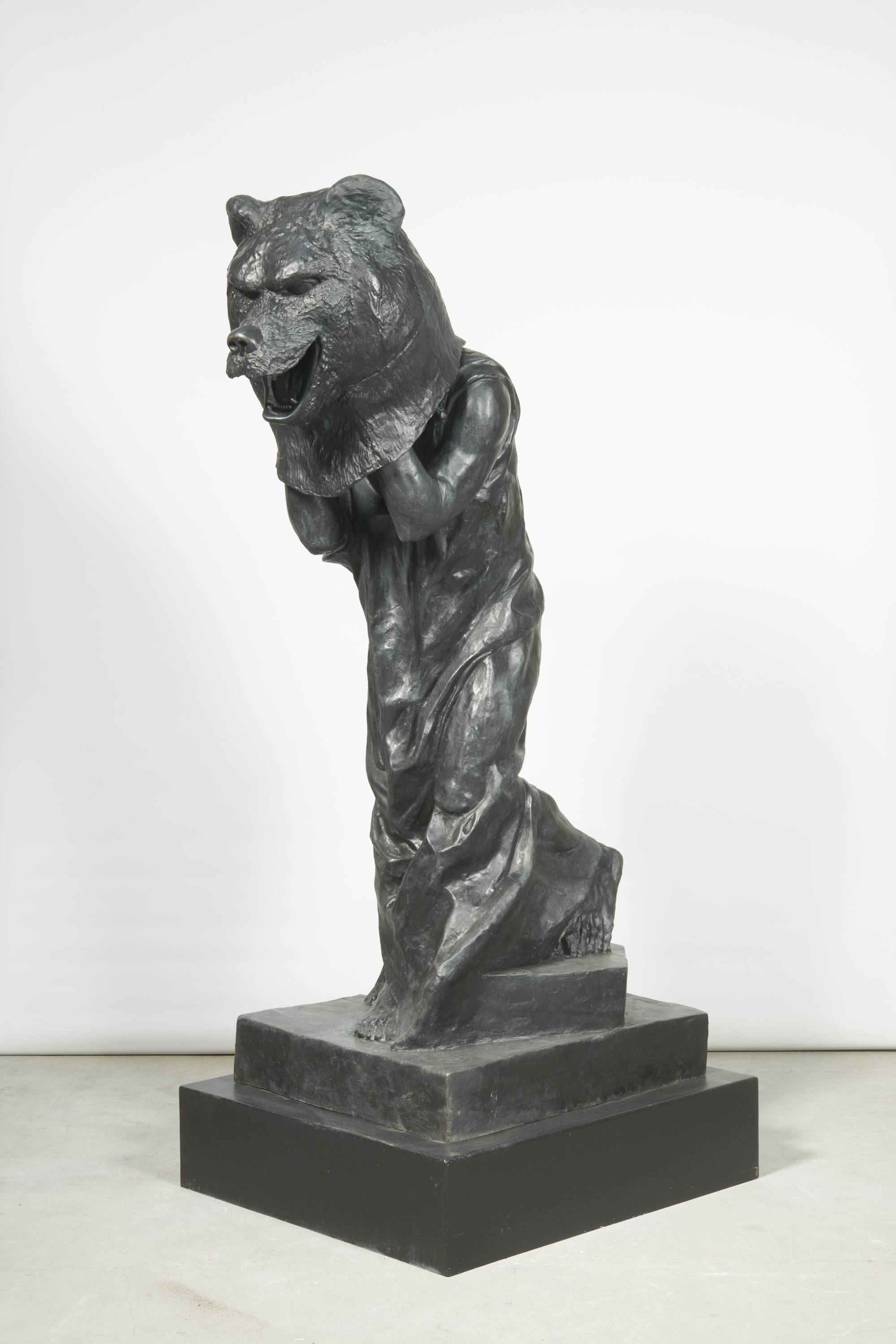 Nathan Mabry, Process Art (B-E-A-G-G-R-E-S-S-I-V-E), 2011 bronze, patina edition of 2 216 x 76 x 76 cm - 85 x 29 7/8 x 29 7/8 inches