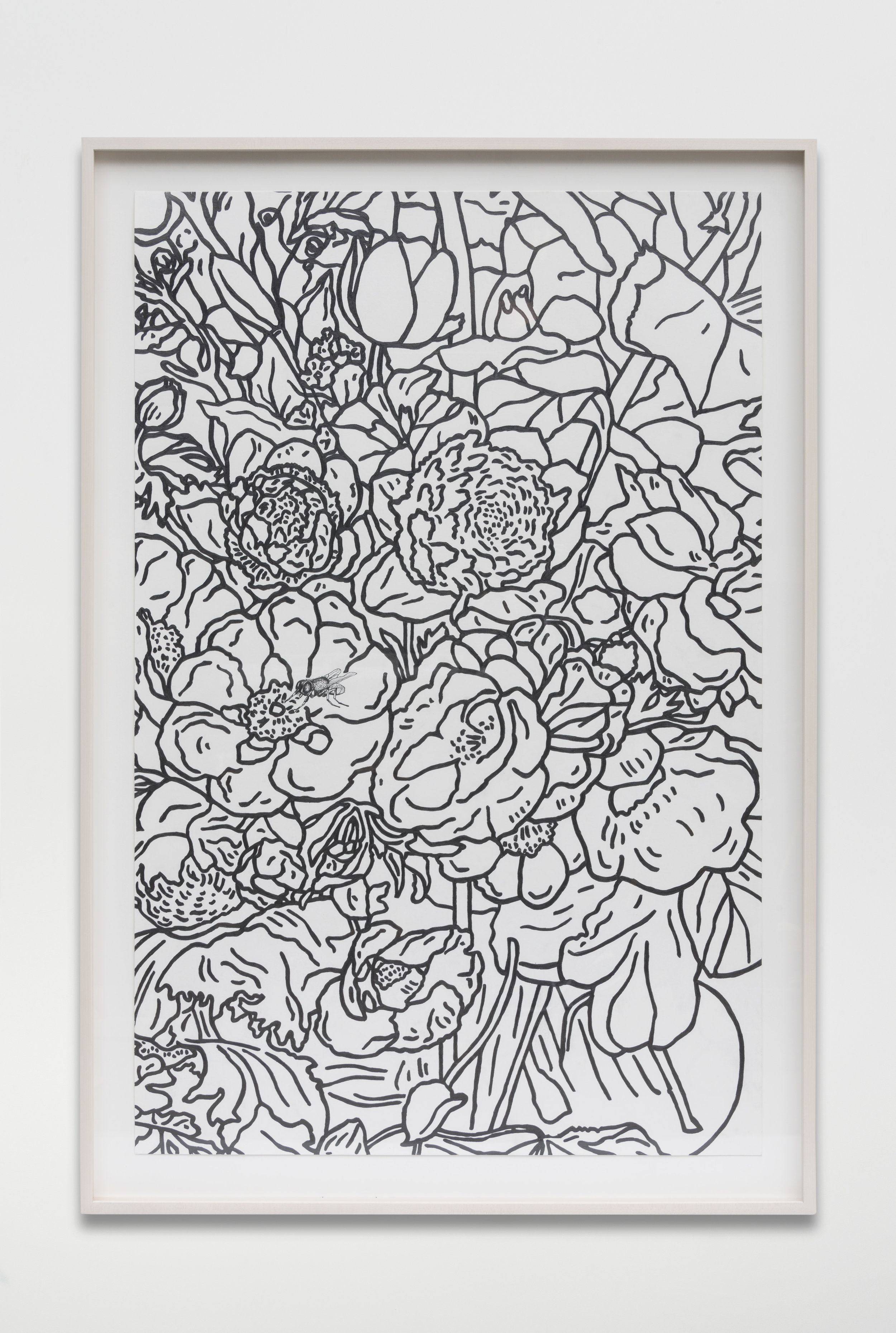 Nathan Mabry, Bouquet (For Rachel), 2017 graphite on paper 120,7 x 82,5 x 5 cm - 47 1/2 x 32 1/2 x 2 inches (framed)